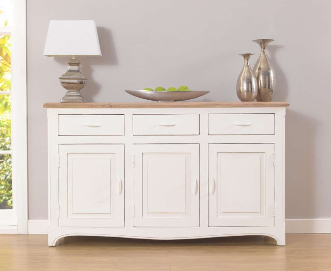 Parisian 145Cm Shabby Chic Sideboard | The Great Furniture Trading Intended For Shabby Chic Sideboards (View 11 of 20)