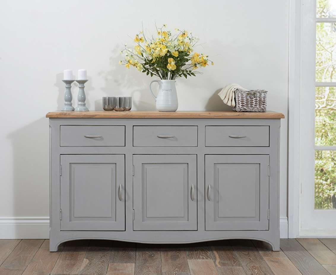 Parisian Grey Shabby Chic Sideboard | The Great Furniture Trading With Shabby Chic Sideboards (View 12 of 20)