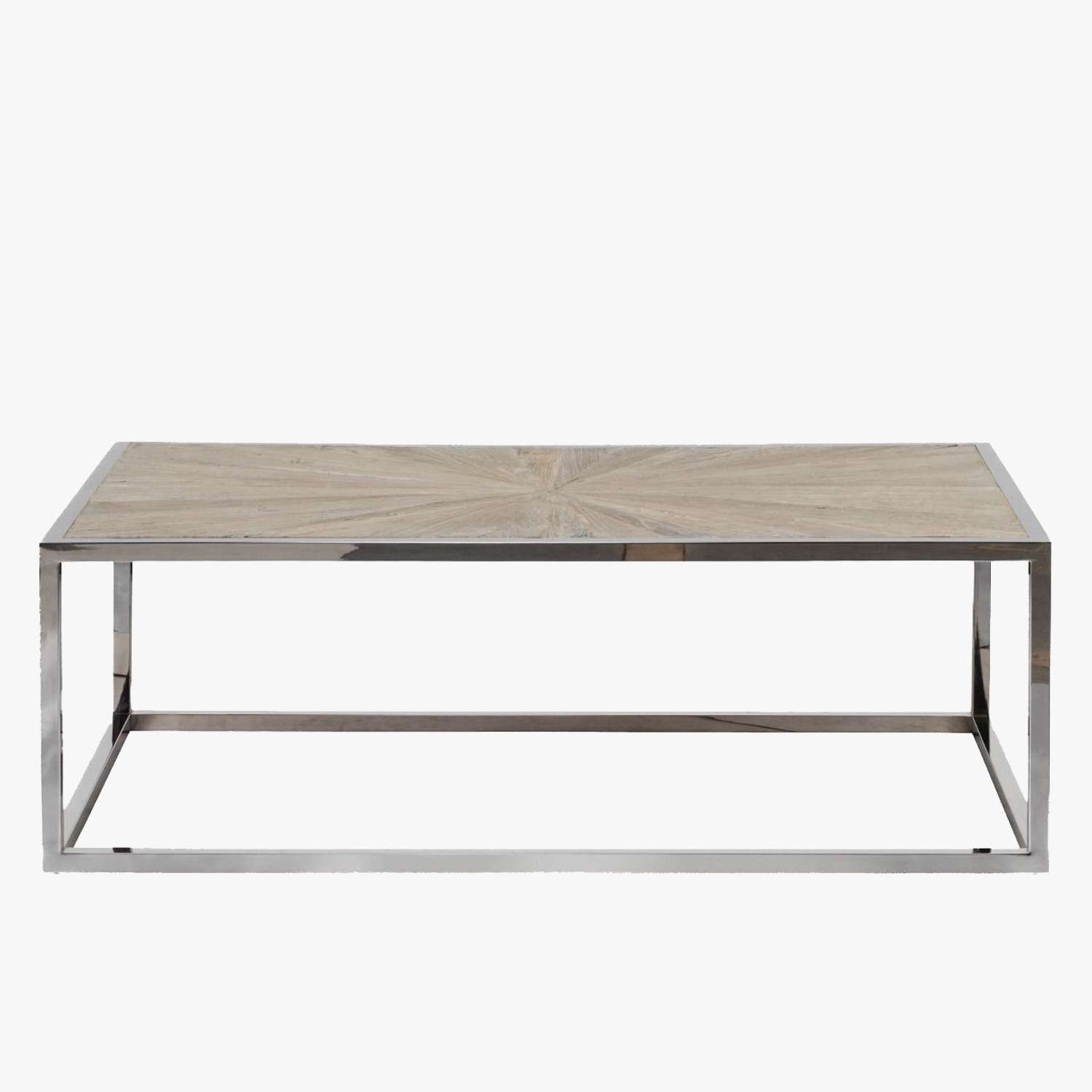 Parquet Top Chrome Coffee Table – Shop Coffee Tables – Dear Keaton Within Latest Chrome And Wood Coffee Tables (View 14 of 20)