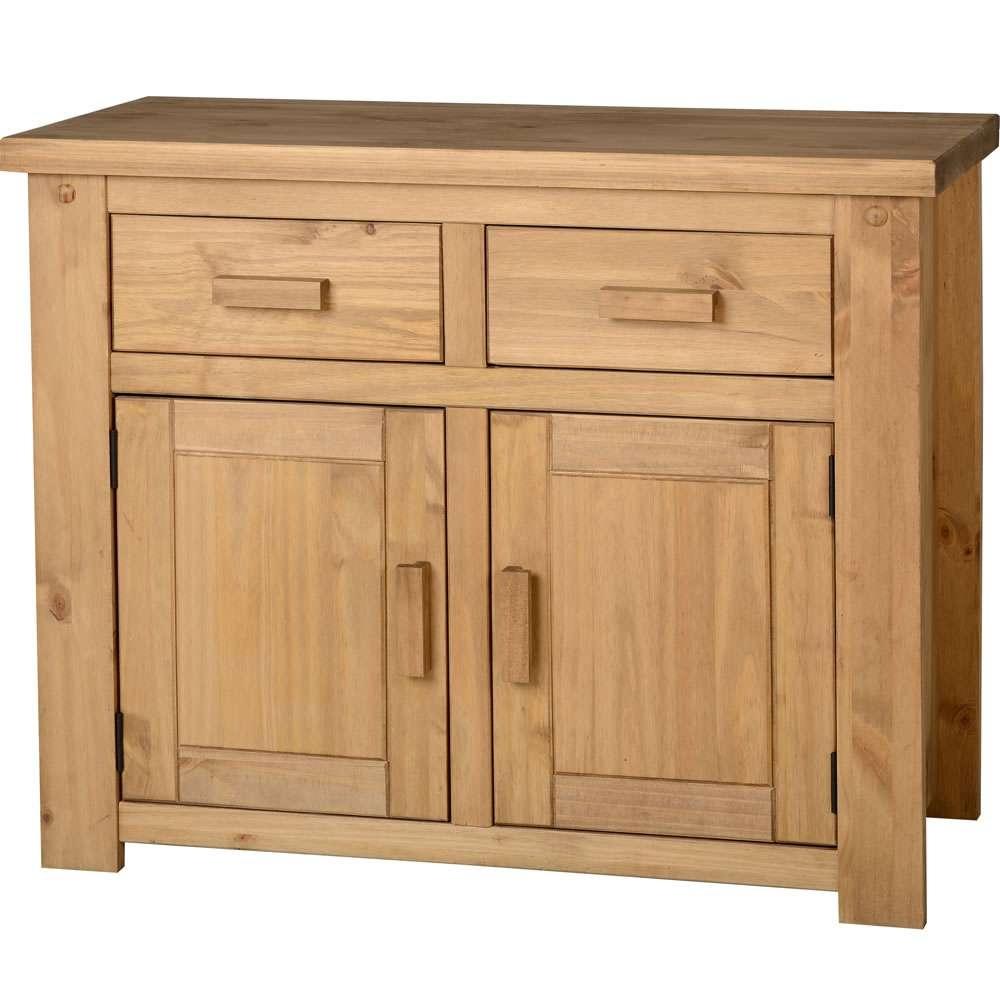 Paulo 2 Door 2 Drawer Sideboard Pine At Wilko For Pine Sideboards (View 12 of 20)