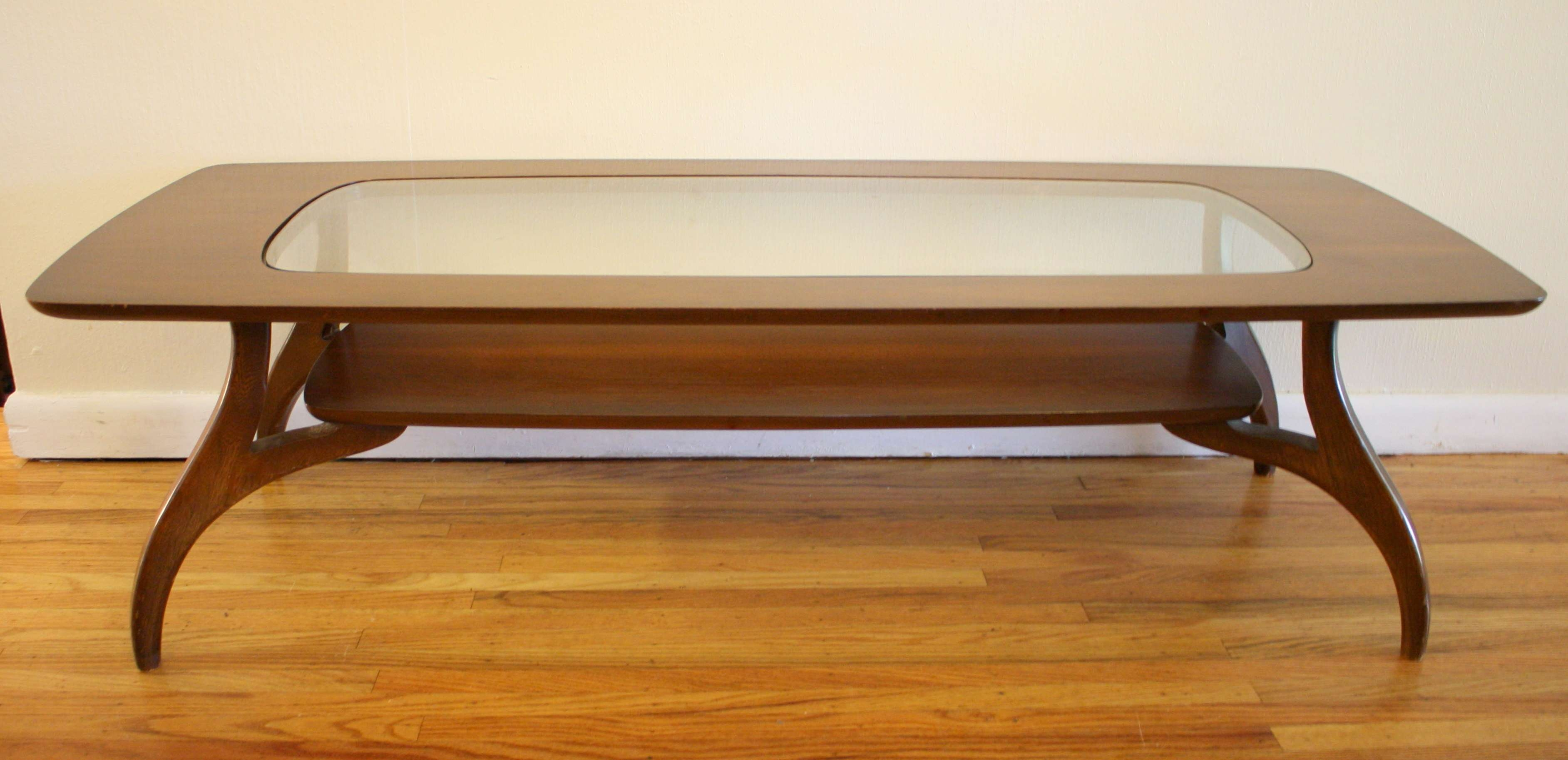 Picked Vintage With Most Recently Released Oak Coffee Table With Glass Top (View 15 of 20)
