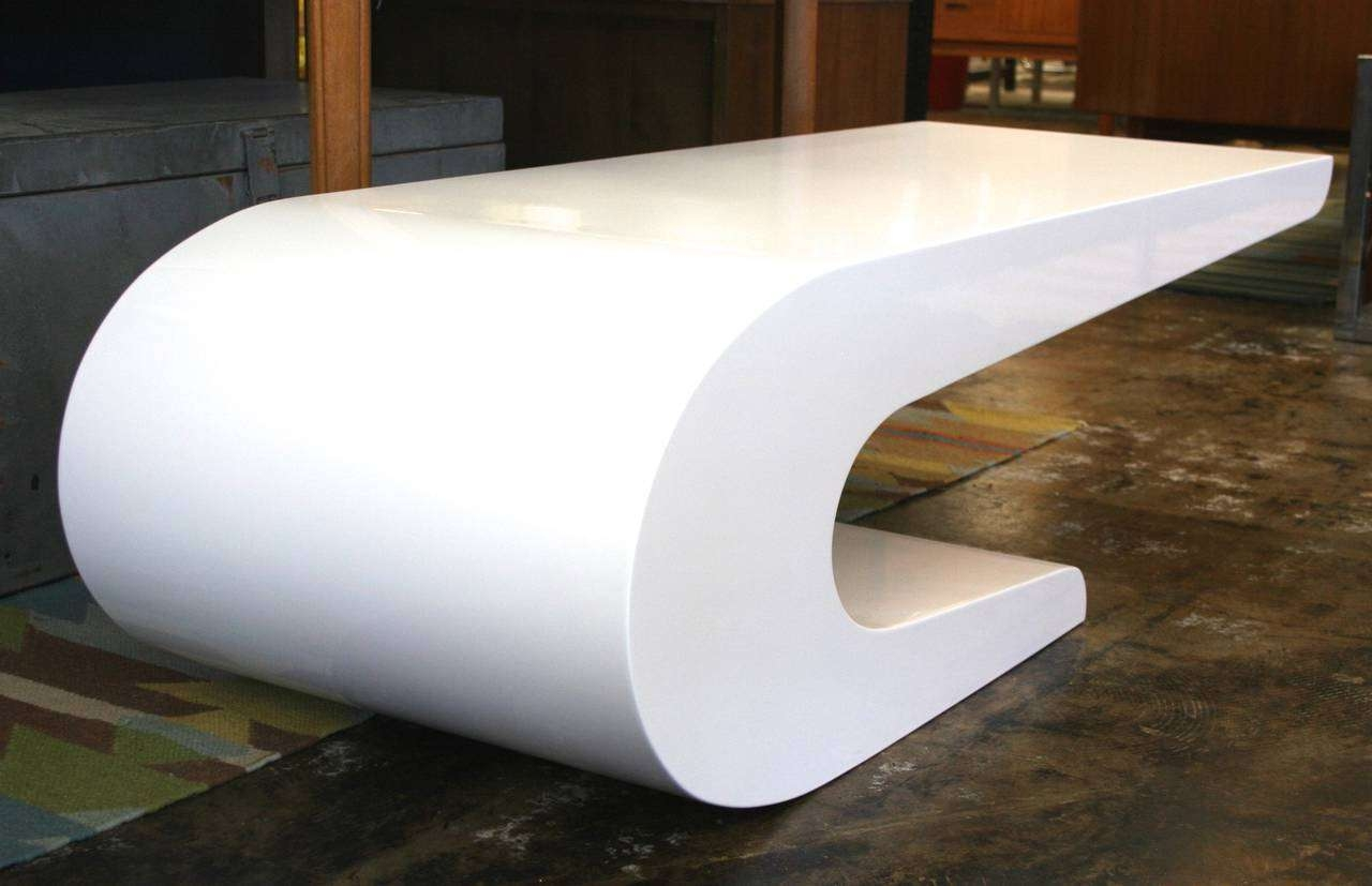 Pierre Cardin Style Coffee Table In White Lacquer, Circa 1970 At With Most Up To Date Lacquer Coffee Tables (View 14 of 20)