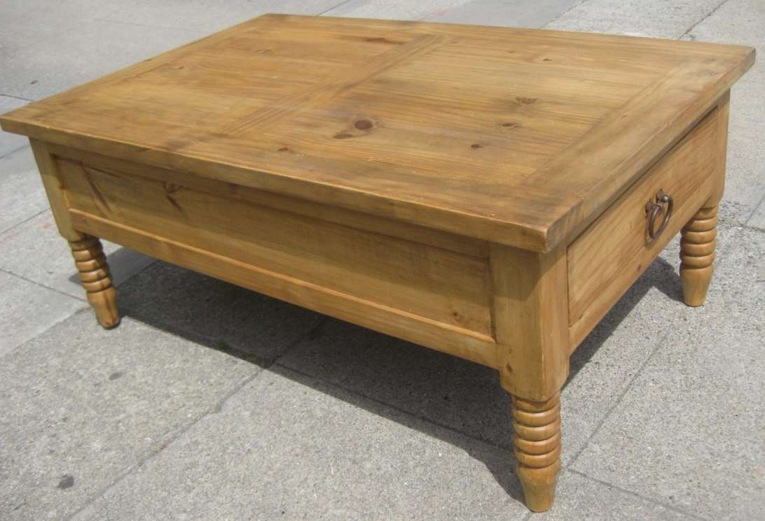 Pine Coffee Tables Table Storage Knotty Legs 83 Exceptional Photos With Widely Used Pine Coffee Tables With Storage (View 17 of 20)
