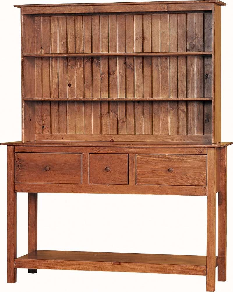 """Pine Jumbo Hutch 63"""" Wide Inside Sideboards And Hutches (View 12 of 20)"""