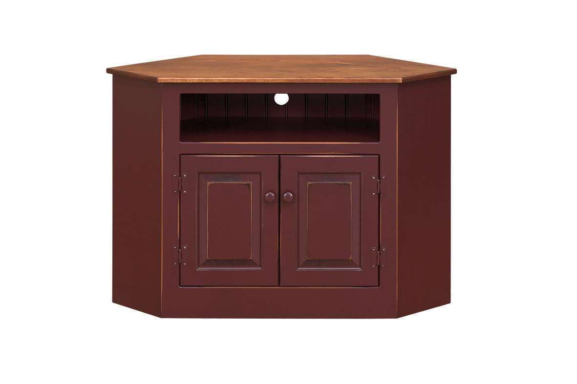 Pine Wood Corner Tv Stand From Dutchcrafters Amish Furniture For Wooden Corner Tv Cabinets (View 12 of 20)