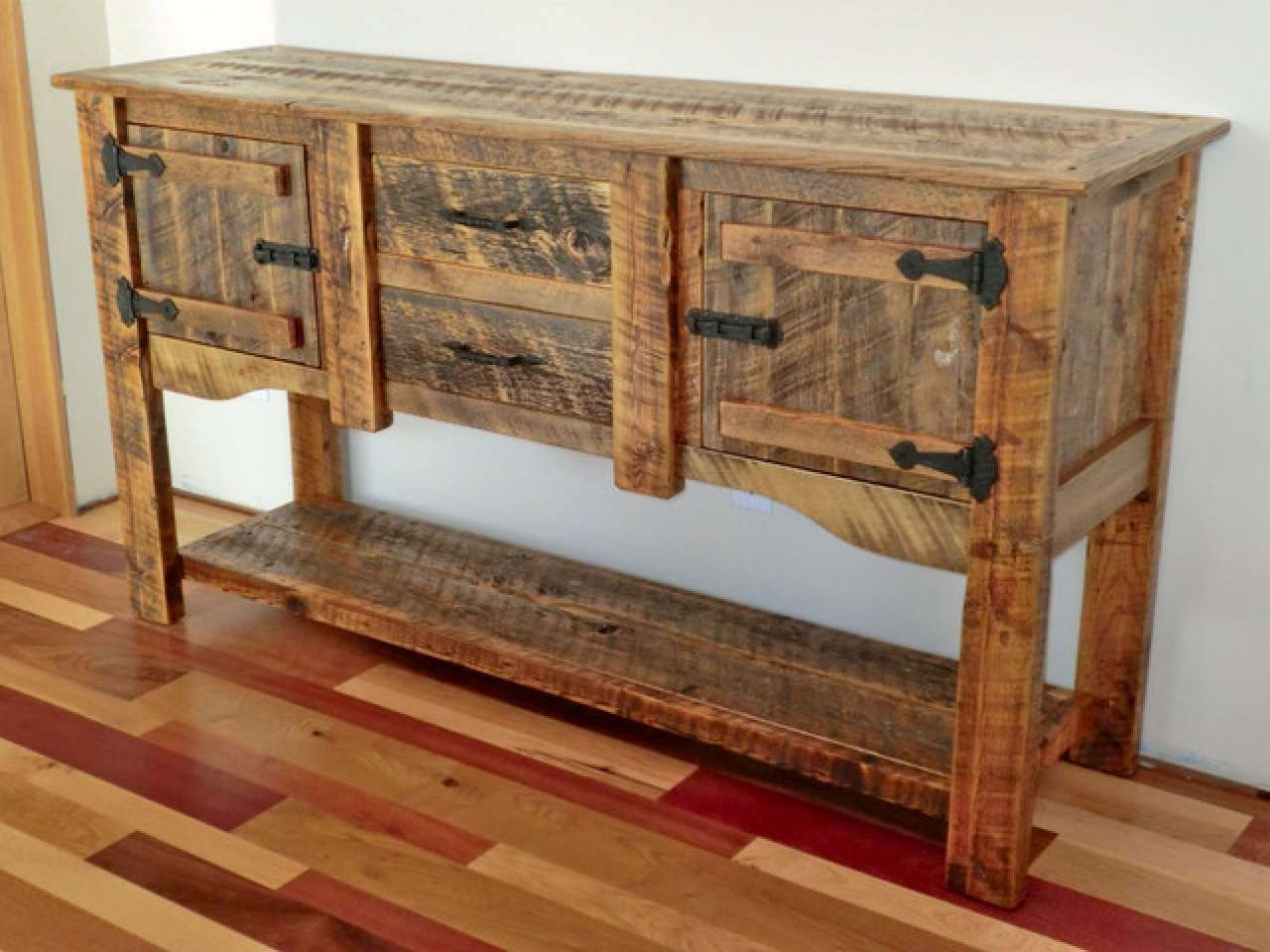 Pine Wood Kitchens, Ideas For Painted Buffet Sideboards Rustic Throughout Rustic Sideboards And Buffets (View 8 of 20)