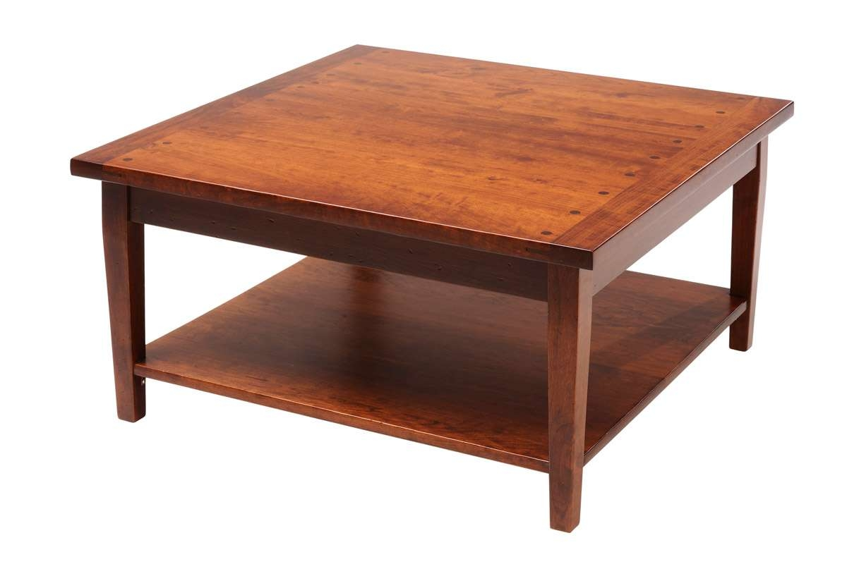 Pleasing Rustic Square Coffee Table Inspirations Also Rustic Throughout Most Popular Square Wooden Coffee Table (View 3 of 20)