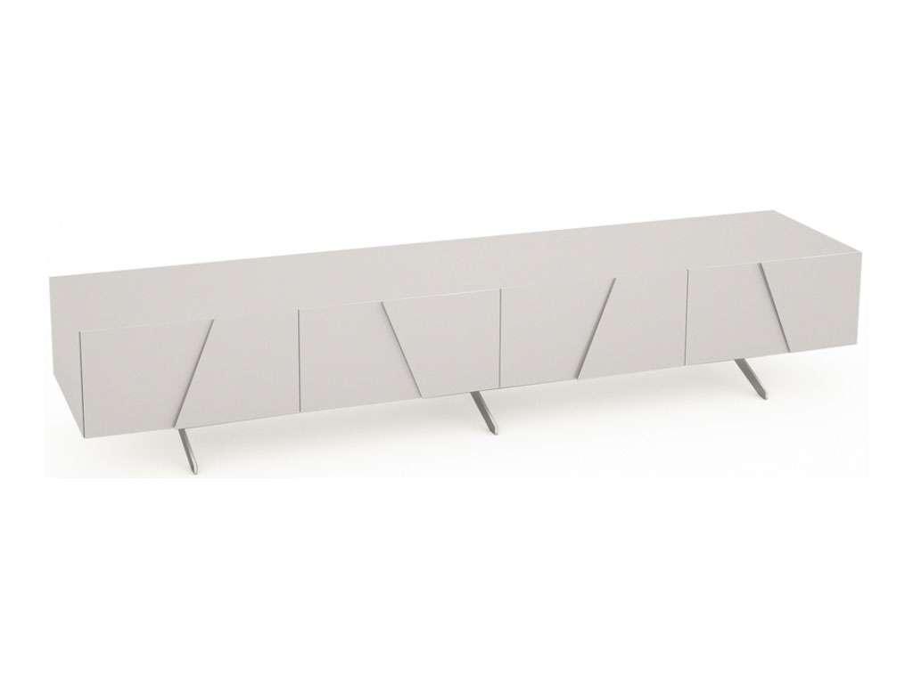 Polar Long Low Media Sideboard | Oak Furniture Solutions Inside Long Low Sideboards (View 11 of 20)