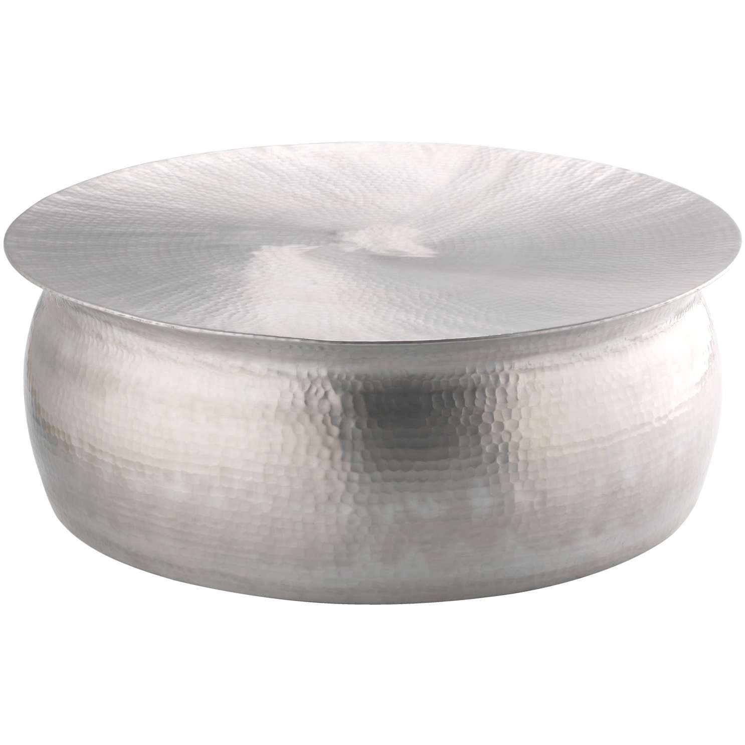 Polished Hammered Coffee Table – Free Shipping Today – Overstock With Newest Hammered Silver Coffee Tables (View 7 of 20)