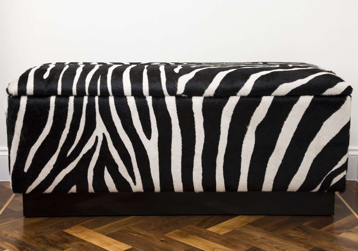 Popular Animal Print Ottoman Coffee Tables With Complete Your Safari Themed Home Decor With Animal Print Bench (View 13 of 20)