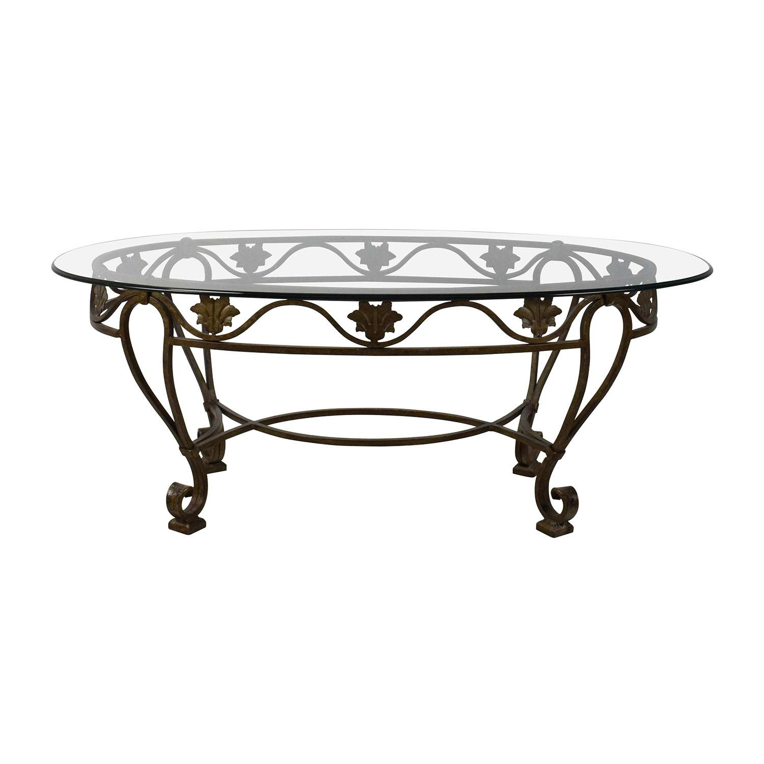 [%Popular Antique Glass Top Coffee Tables Within 90% Off – Iron Cast Glass Top Antique Coffee Table / Tables|90% Off – Iron Cast Glass Top Antique Coffee Table / Tables Intended For Popular Antique Glass Top Coffee Tables%] (View 2 of 20)