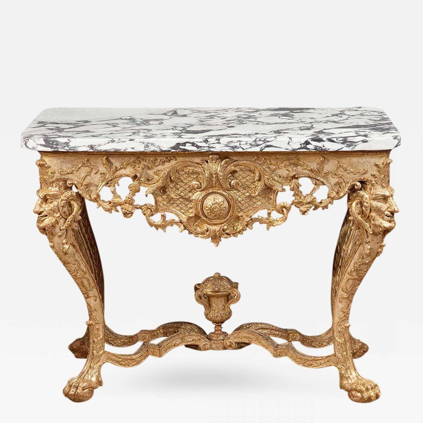 Popular Baroque Coffee Tables Inside Northern European Baroque Giltwood Console Table (View 13 of 20)