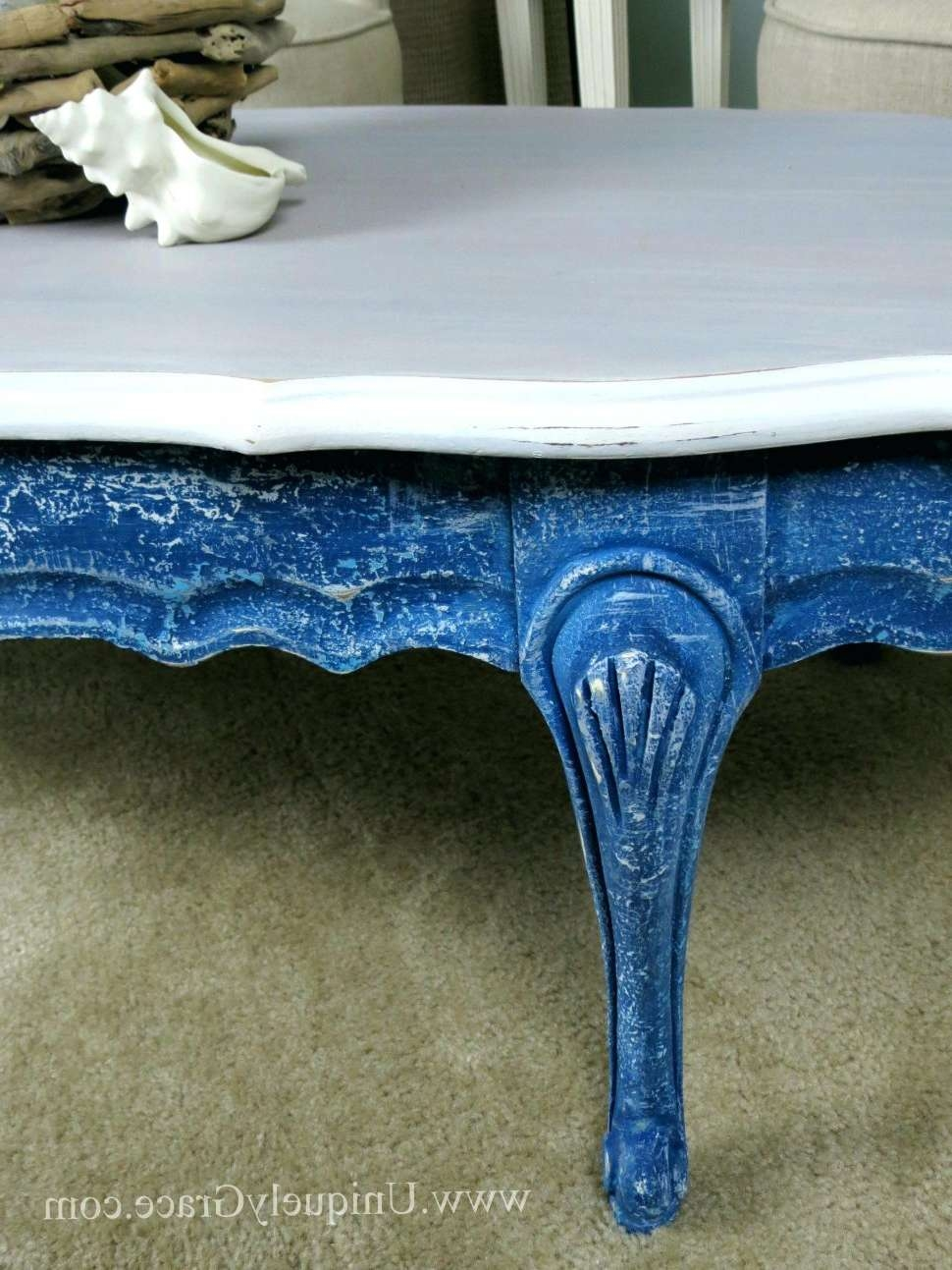 Popular Blue Coffee Tables Inside Coffee Tables : Elegant Blue Coffee Table In Home Interior Design (View 12 of 20)