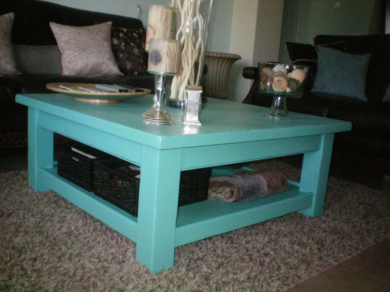 Popular Blue Coffee Tables Inside Tiffany Blue Coffee Table » House Of Rumours (View 5 of 20)