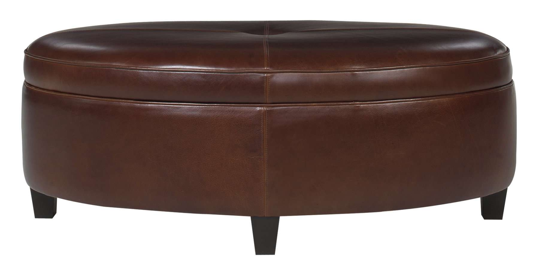 Popular Brown Leather Ottoman Coffee Tables With Storages Pertaining To Beautiful Leather Ottoman Coffee Table Furniture Coffee Table (View 12 of 20)