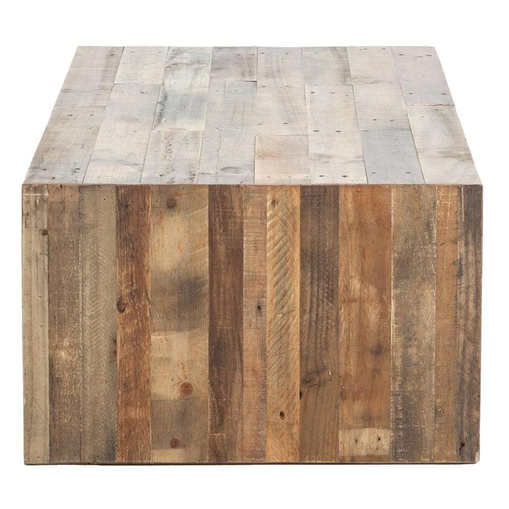 Popular Chunky Rustic Coffee Tables Pertaining To Wynn Modern Rustic Lodge Chunky Reclaimed Wood Rectangle Coffee (View 12 of 20)