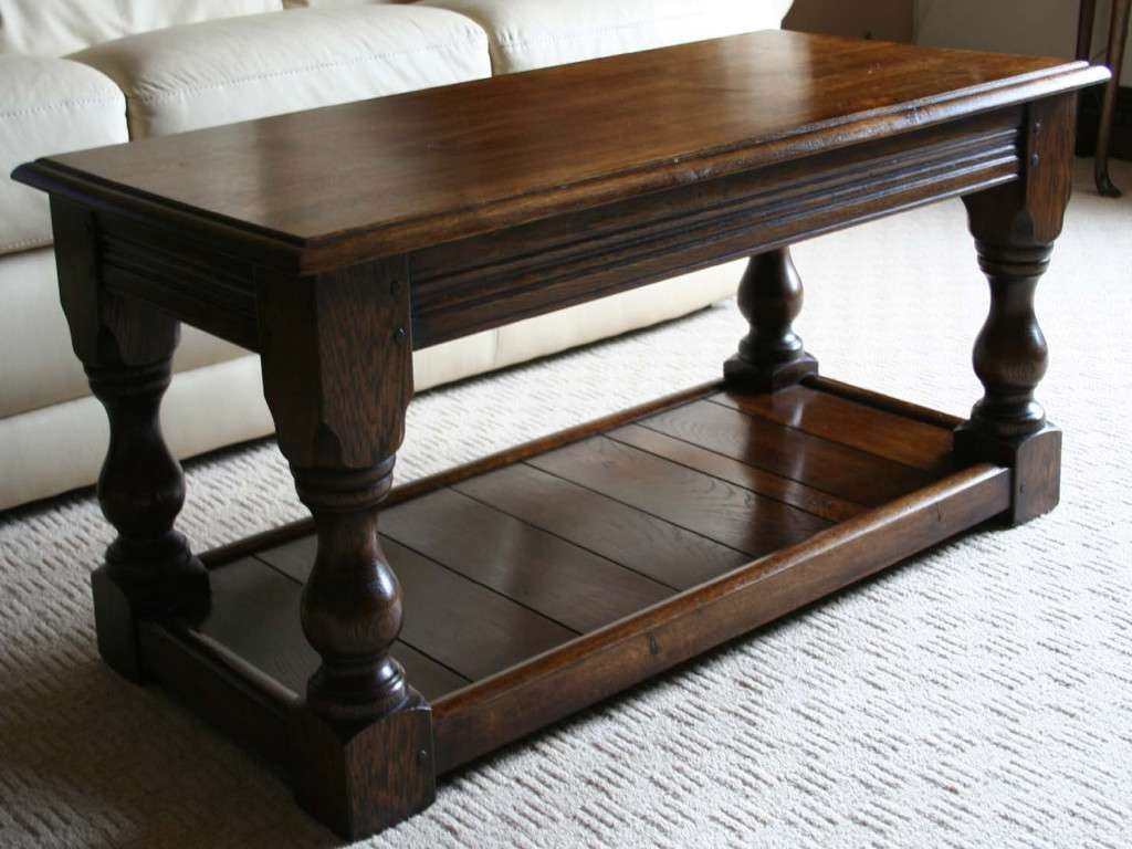 Popular Dark Wood Coffee Tables Pertaining To Coffee Tables : Wood Metal Coffee Table Top Glass Round Distressed (View 18 of 20)