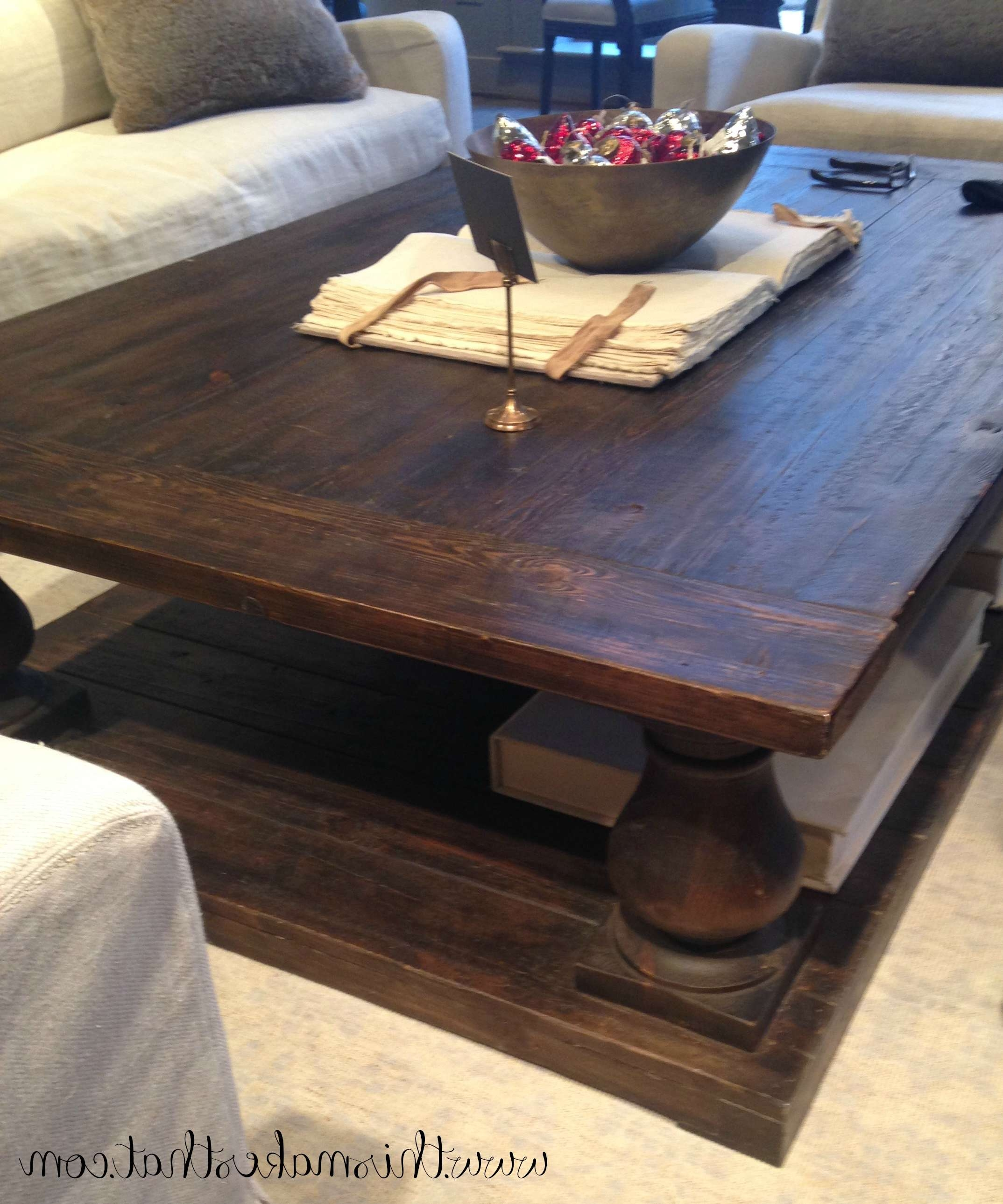 Popular Extra Large Rustic Coffee Tables Pertaining To Coffee Tables : Furniture Astonishing Large Wood Coffee Table (View 6 of 20)