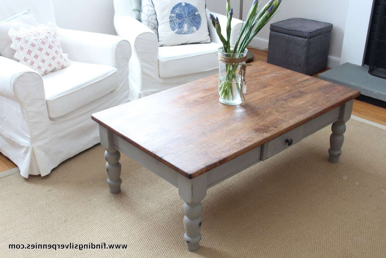 Popular French White Coffee Tables Within Coffee Tables : Astonishing Img Grey Coffee Table French Linen (View 8 of 20)