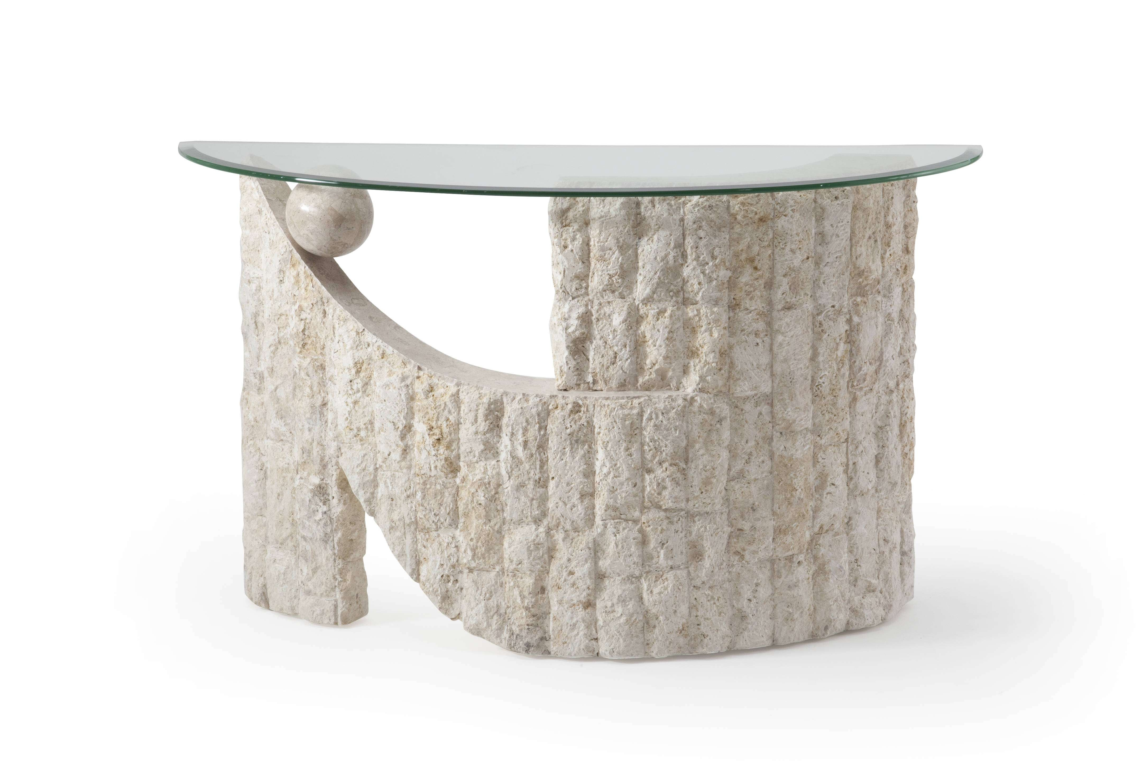 Popular Glass And Stone Coffee Table For Awesome Collection Of Stone And Glass Coffee Table With Home At (View 9 of 20)