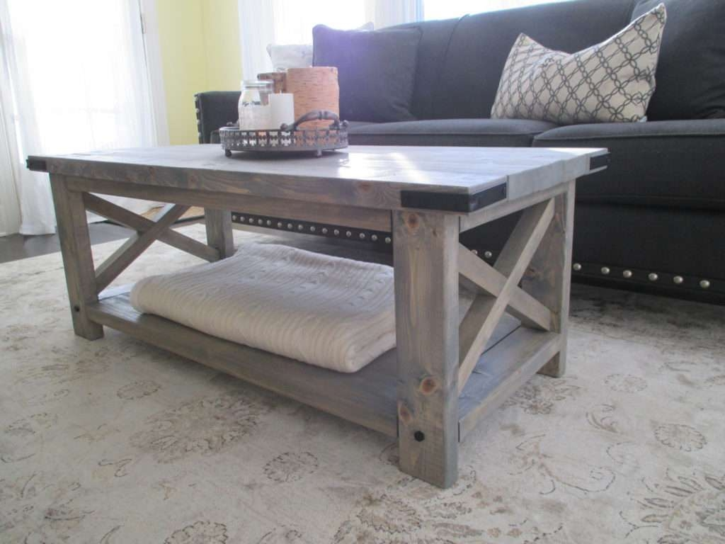 Popular Gray Wash Coffee Tables Inside Coffee Table : Awesome Gray Accent Table Round Wood Coffee Table (View 5 of 20)