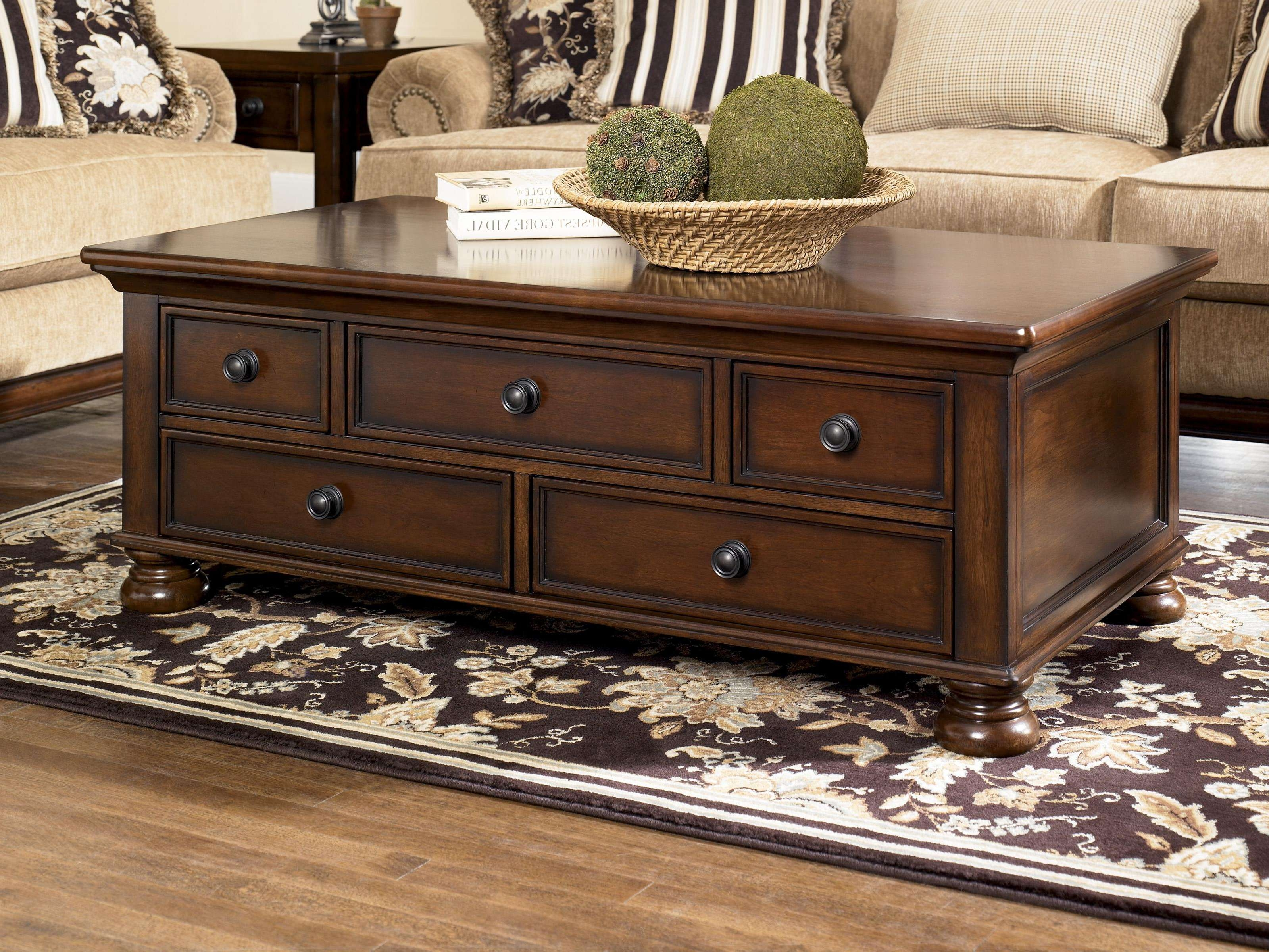 Popular Hardwood Coffee Tables With Storage Within Coffee Table: Surprising Coffee Table Storage Small Glass Coffee (View 15 of 20)