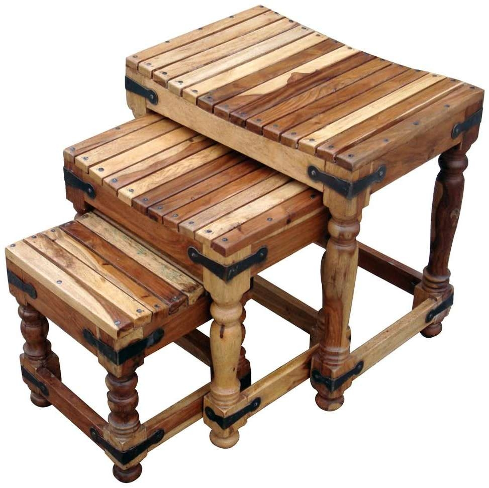 Popular Jaipur Sheesham Coffee Tables With Buy Jaipur Furniture Jali Nest Of Tables – Set Of 3 Online – Cfs Uk (View 15 of 20)