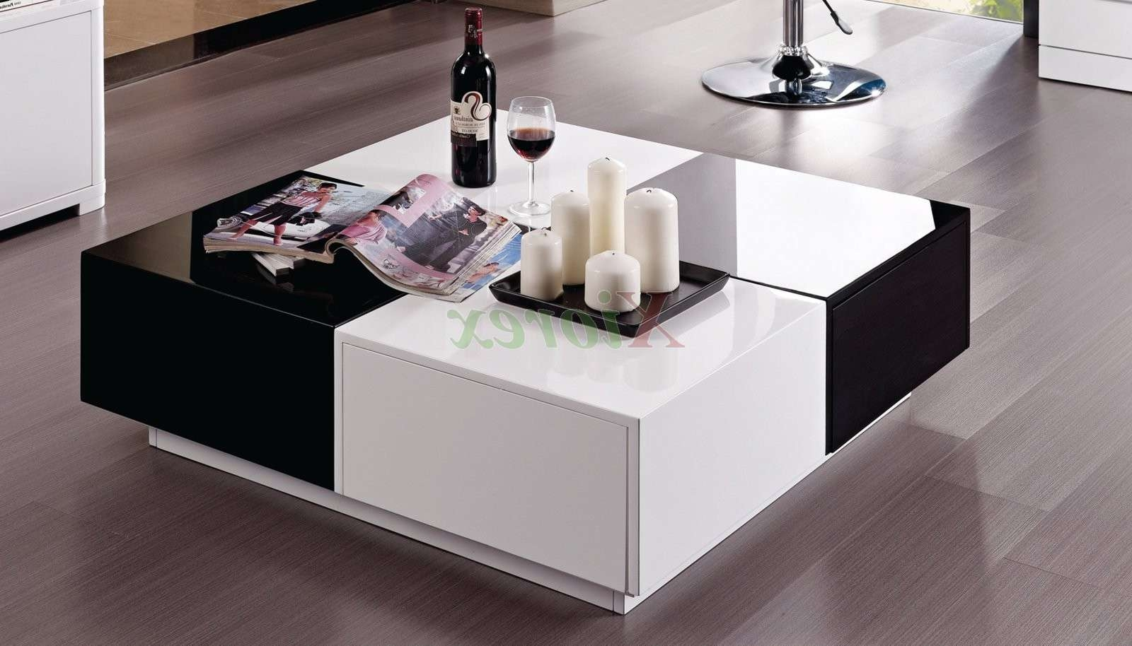 Popular Lacquer Coffee Tables Pertaining To Vaughan Black And White Lacquer Coffee Table Furniture (View 15 of 20)