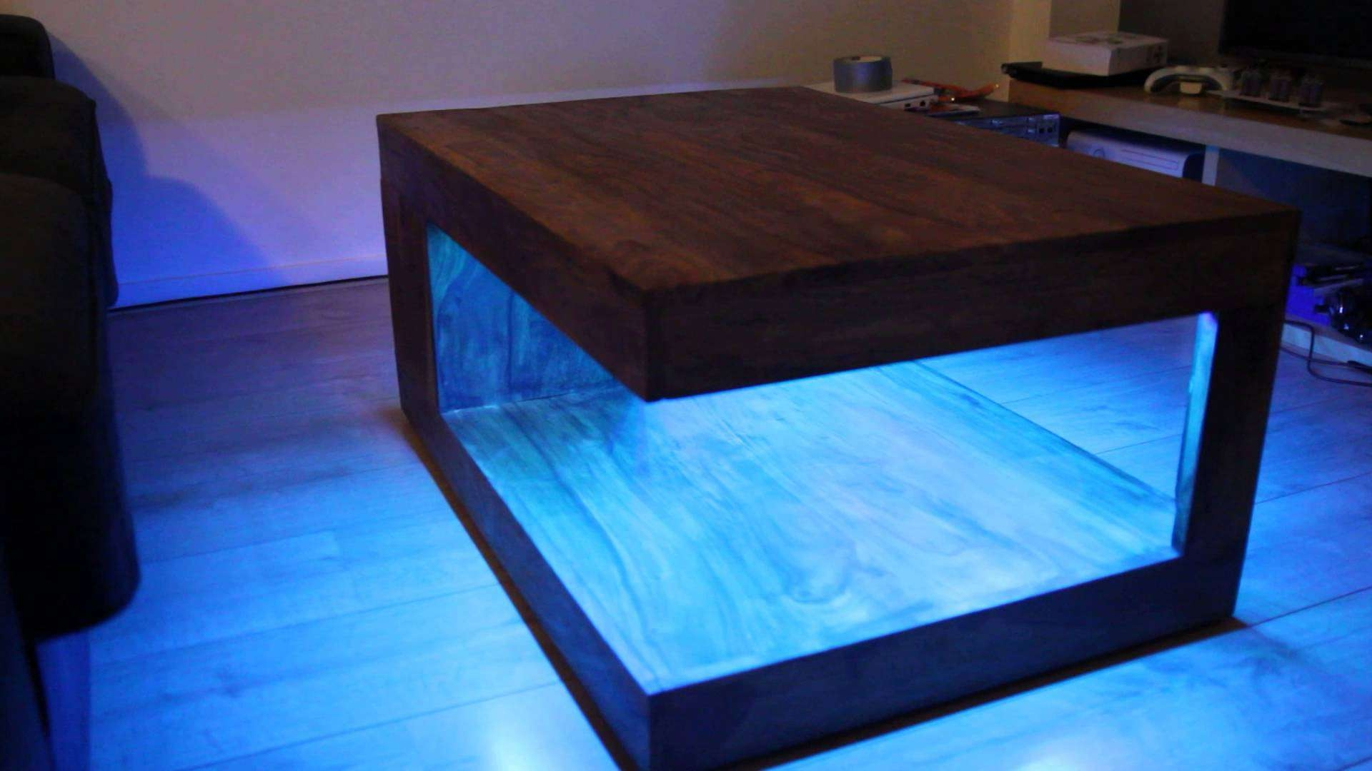 Popular Led Coffee Tables Throughout Bluetooth Rgb Led Coffee Table – Youtube (View 14 of 20)