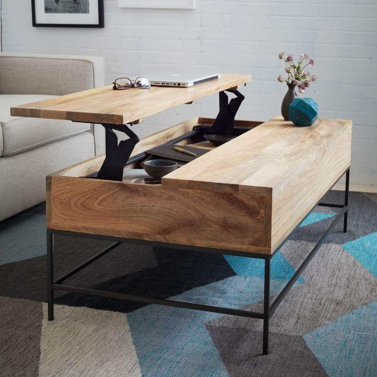 Popular Low Coffee Table With Storage Intended For Coffee Tables : Storage Coffee Tables Sofa Table' Coffee Table (View 20 of 20)