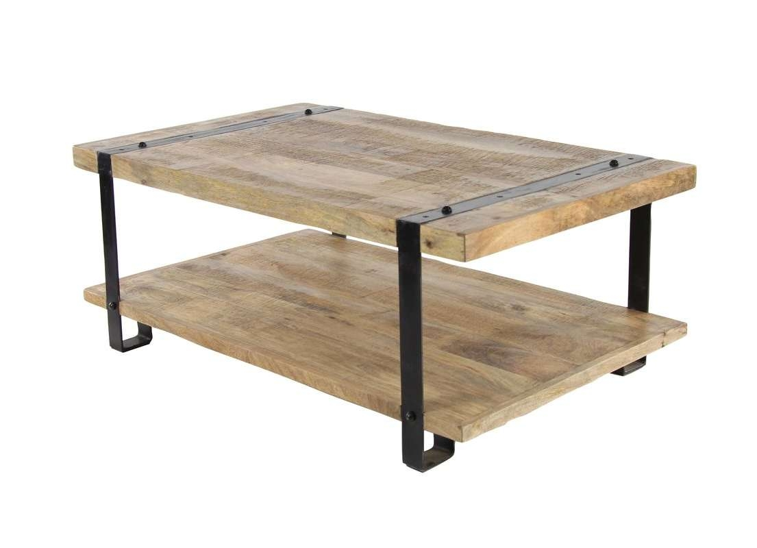 Popular Mango Coffee Tables In 17 Stories Bianka Industrial Mango Wood And Iron Coffee Table With (View 15 of 20)