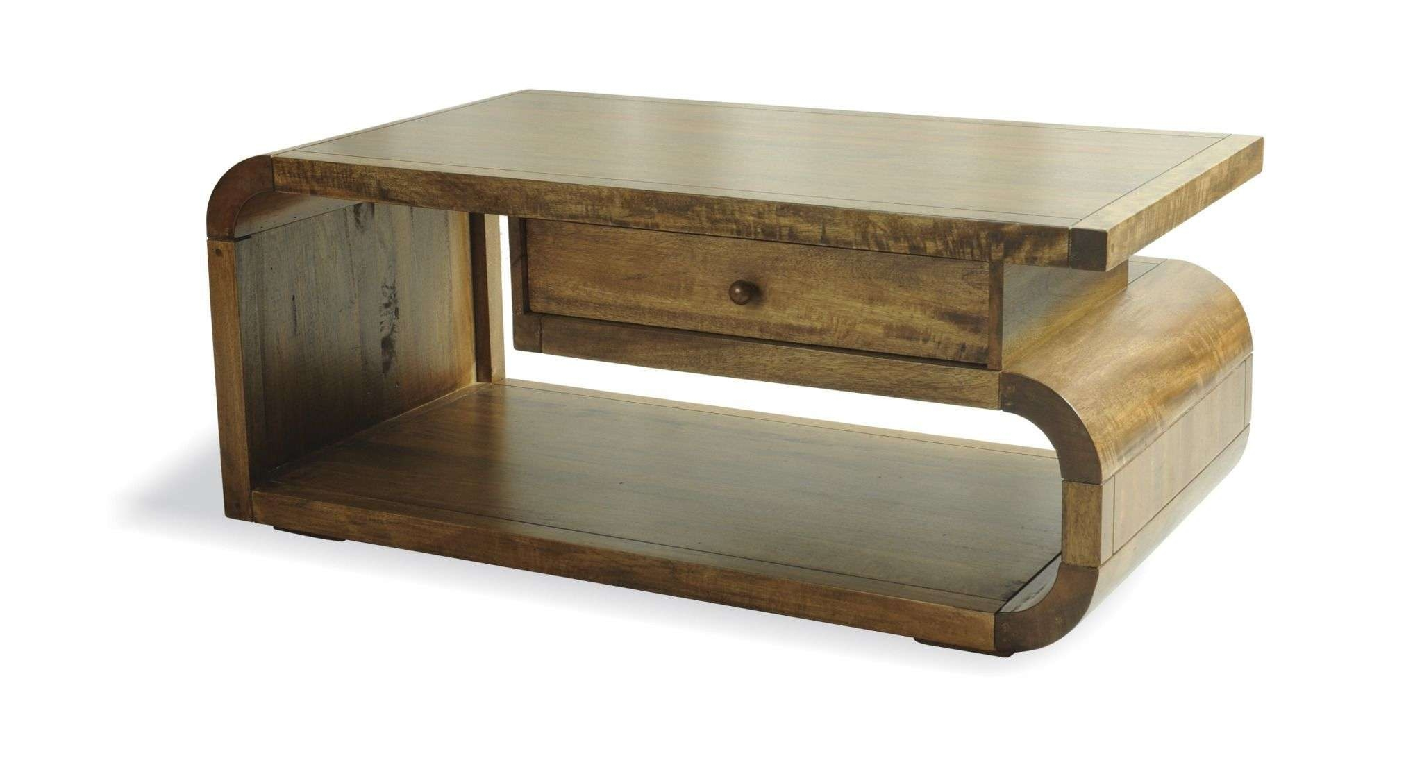 Popular Mango Coffee Tables Pertaining To Retro Curved Natural Mango Wood Coffee Table (View 16 of 20)