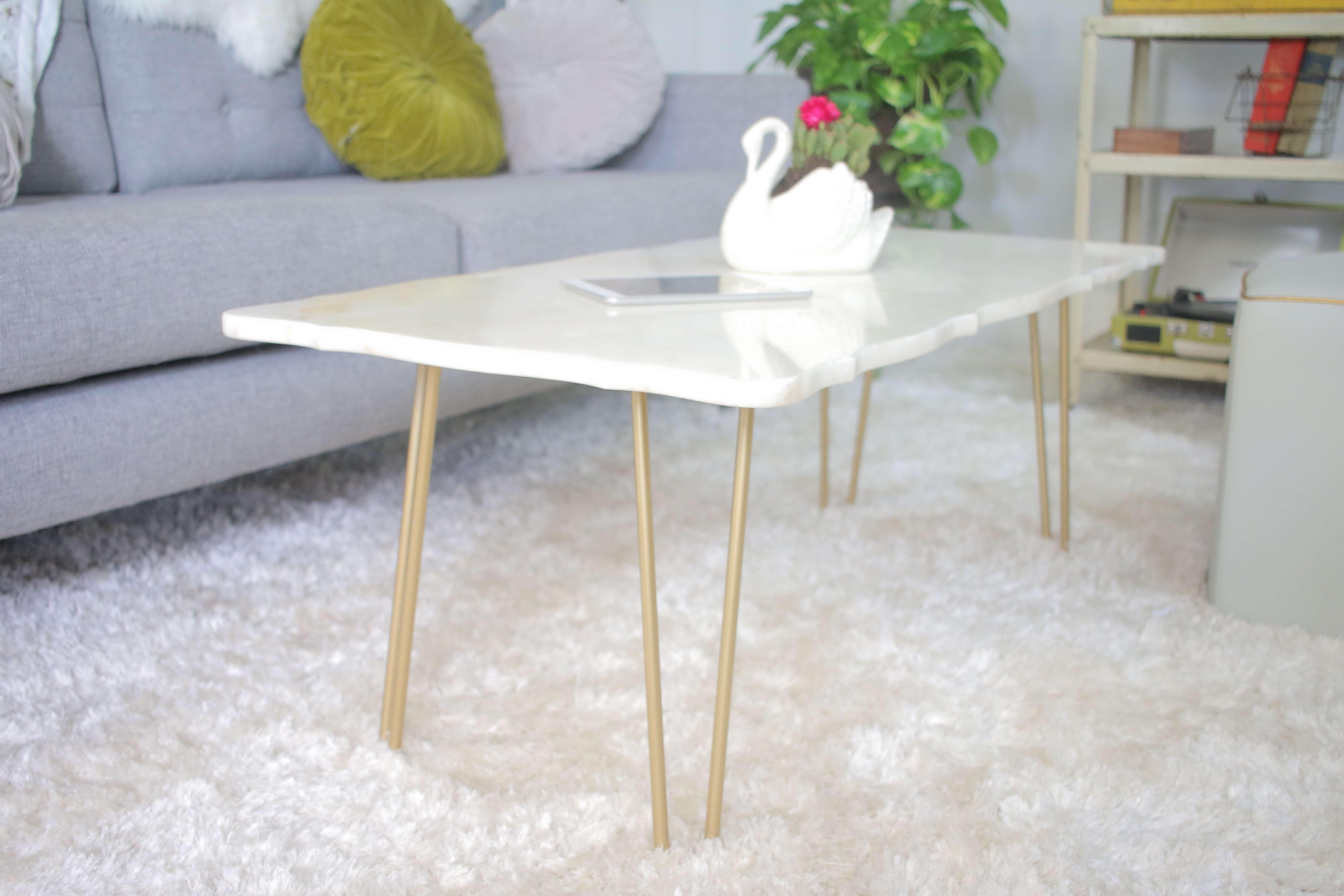 Popular Marble Coffee Tables Regarding Diy: Marble Coffee Table (View 20 of 20)