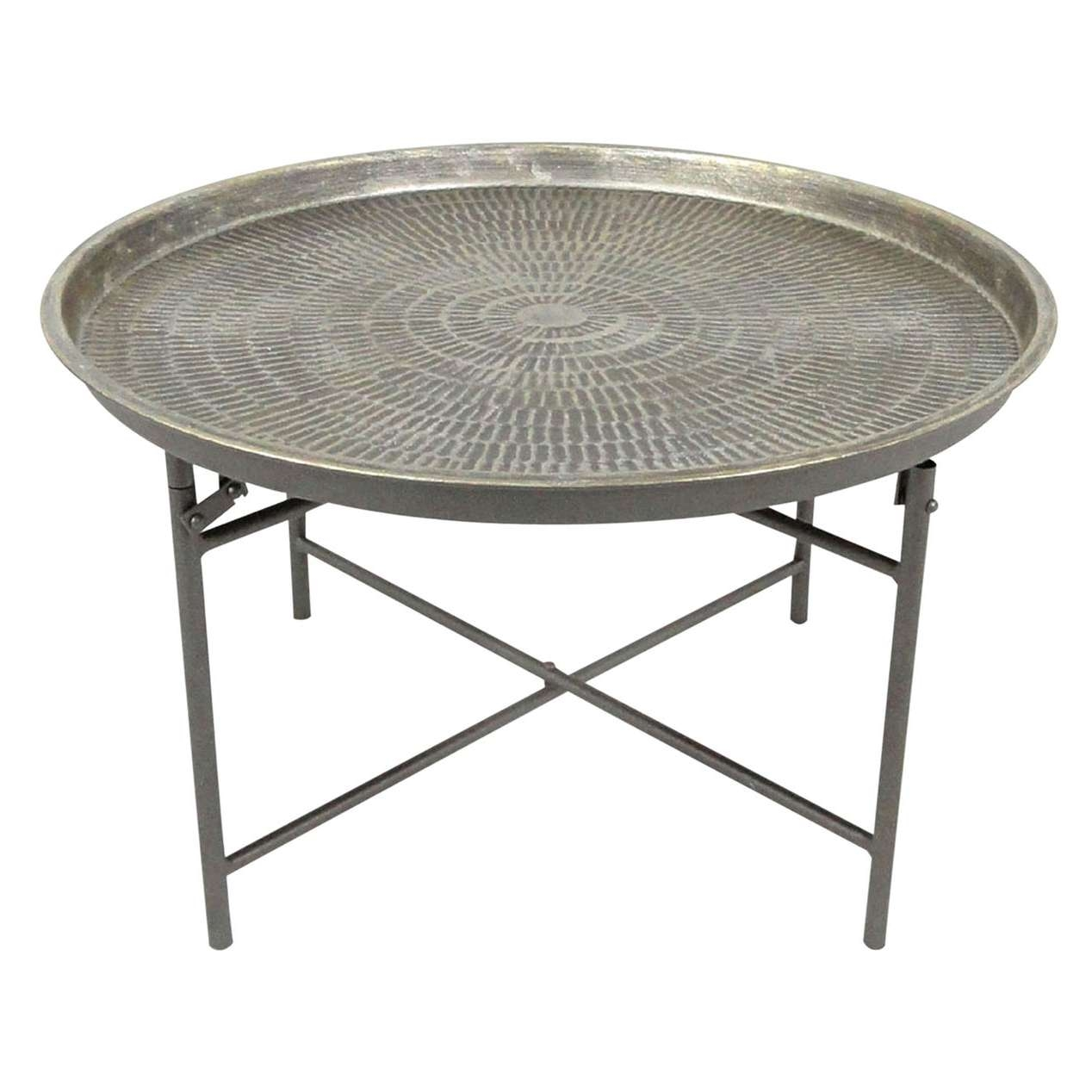 Popular Metal Coffee Tables In Round Metal Coffee Table (View 13 of 20)