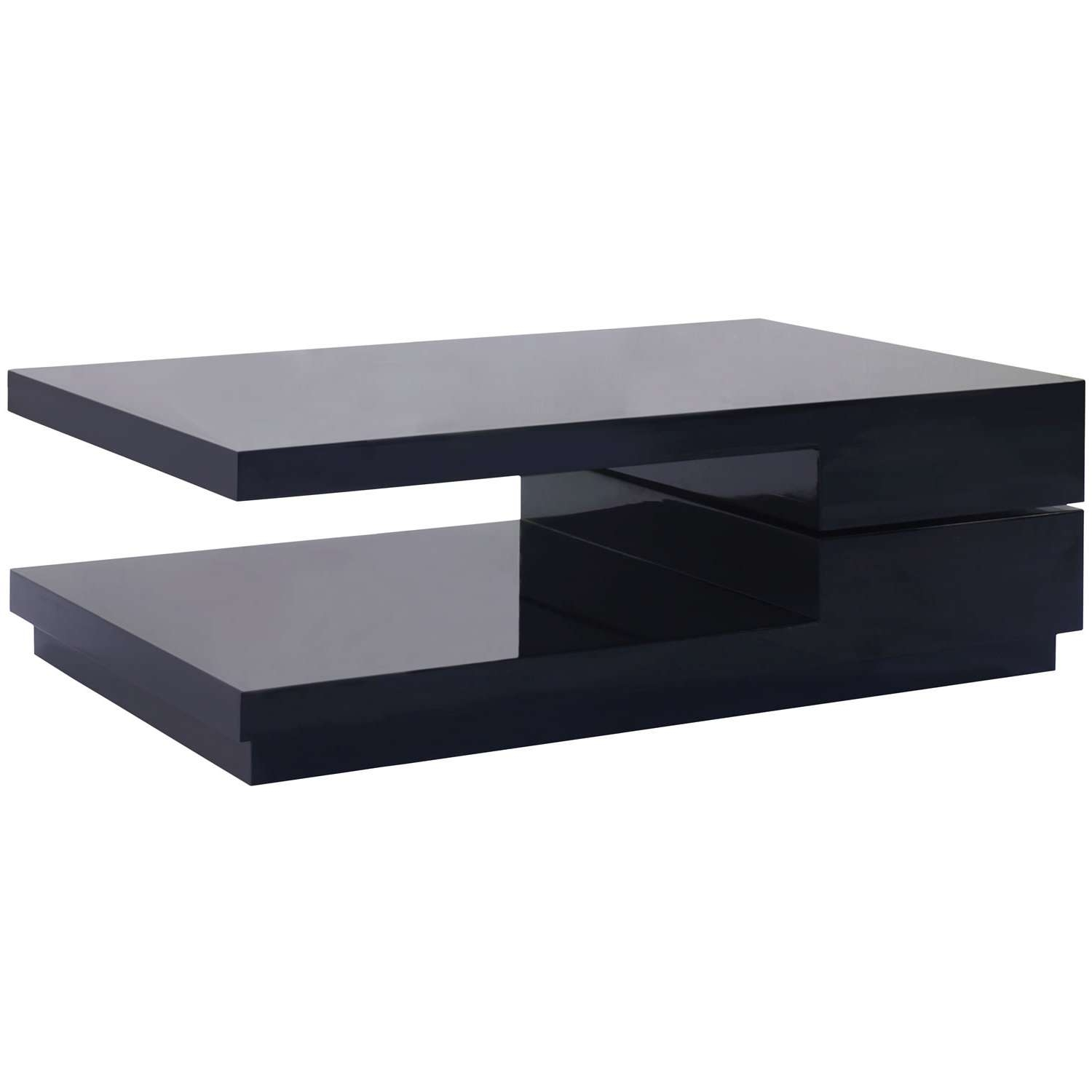 Popular Modern Black Glass Coffee Table With Regard To Coffee Table, Coffee Table Black In Coffee Table Black Top Glass (View 16 of 20)