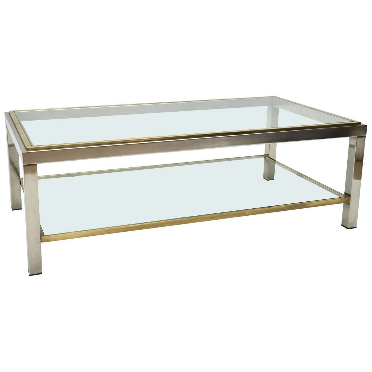 Popular Modern Chrome Coffee Tables Intended For Glass And Chrome Coffee Table – Writehookstudio (View 15 of 20)