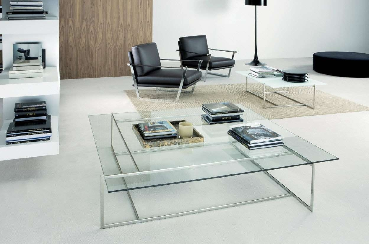 Popular Modern Glass Coffee Tables Intended For Astounding Contemporary Coffee Table Glass Top – Contemporary (View 17 of 20)