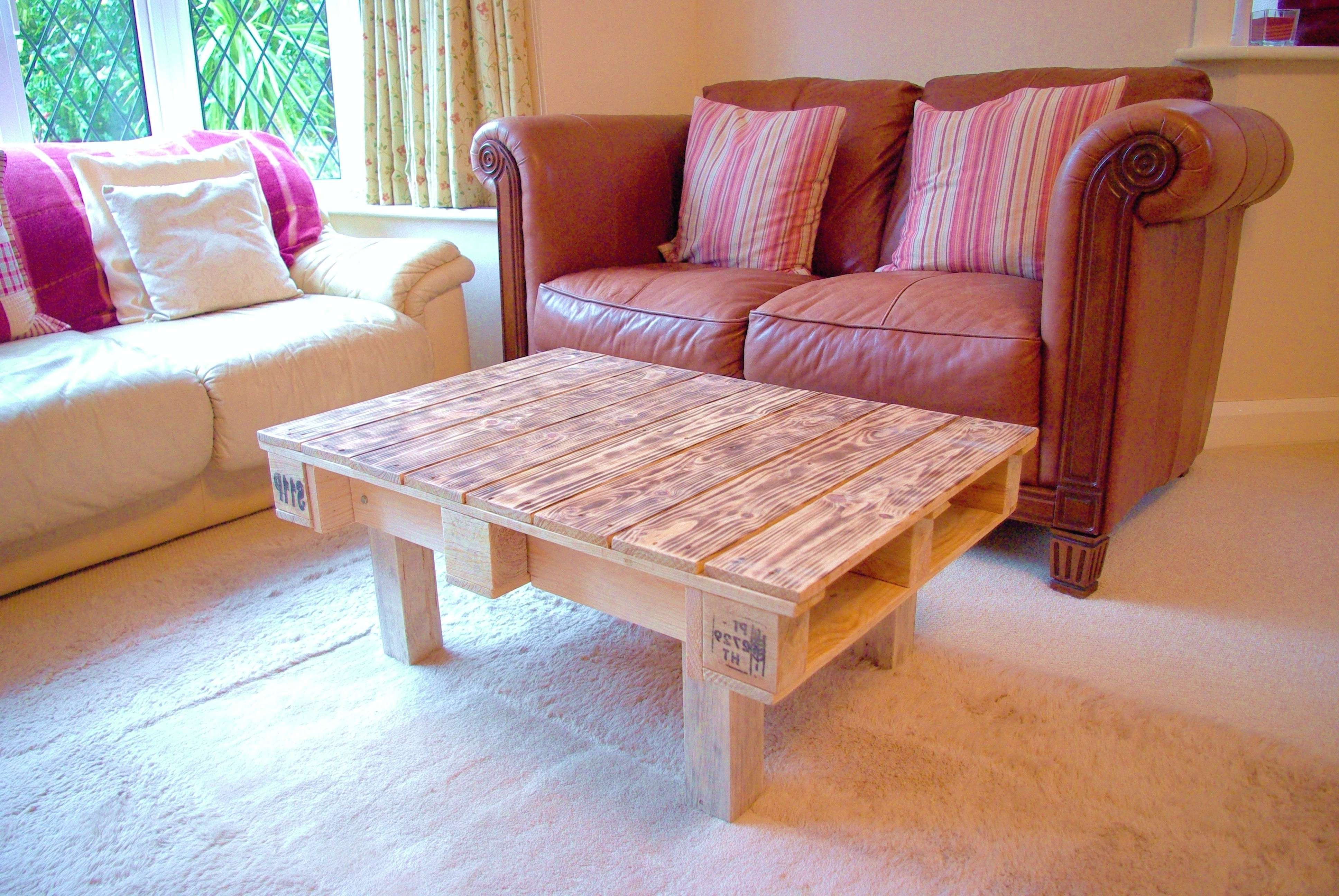 Popular Quirky Coffee Tables With Regard To Our First Piece Of Furniture Is Now Complete – Behold The Pallet (View 12 of 20)