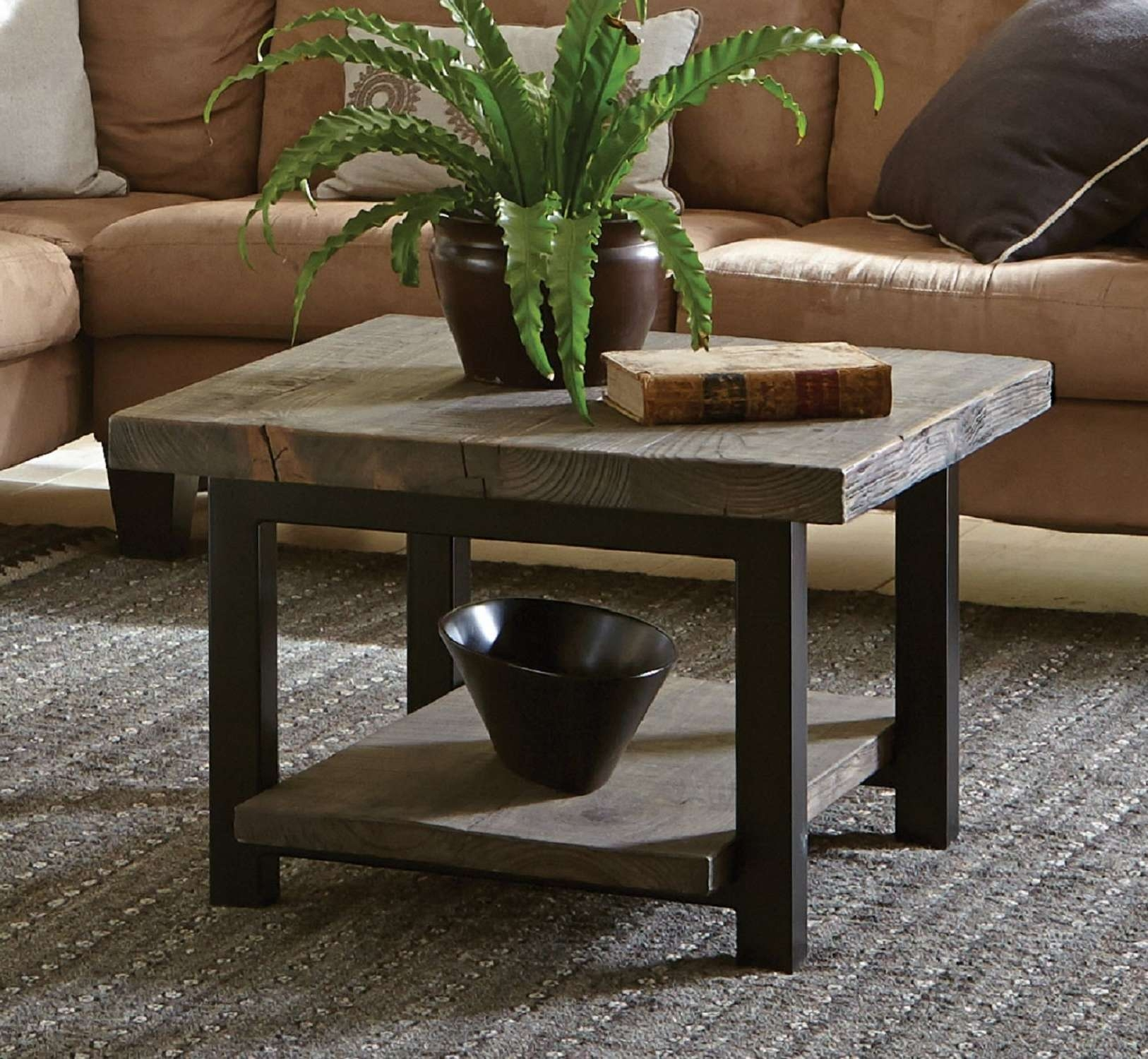 Popular Square Coffee Tables Inside Farmhouse & Rustic Coffee Tables (View 14 of 20)