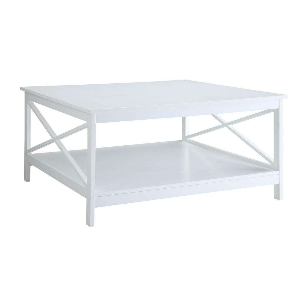 Popular Square White Coffee Tables Throughout Convenience Concepts Oxford 36 In (View 15 of 20)