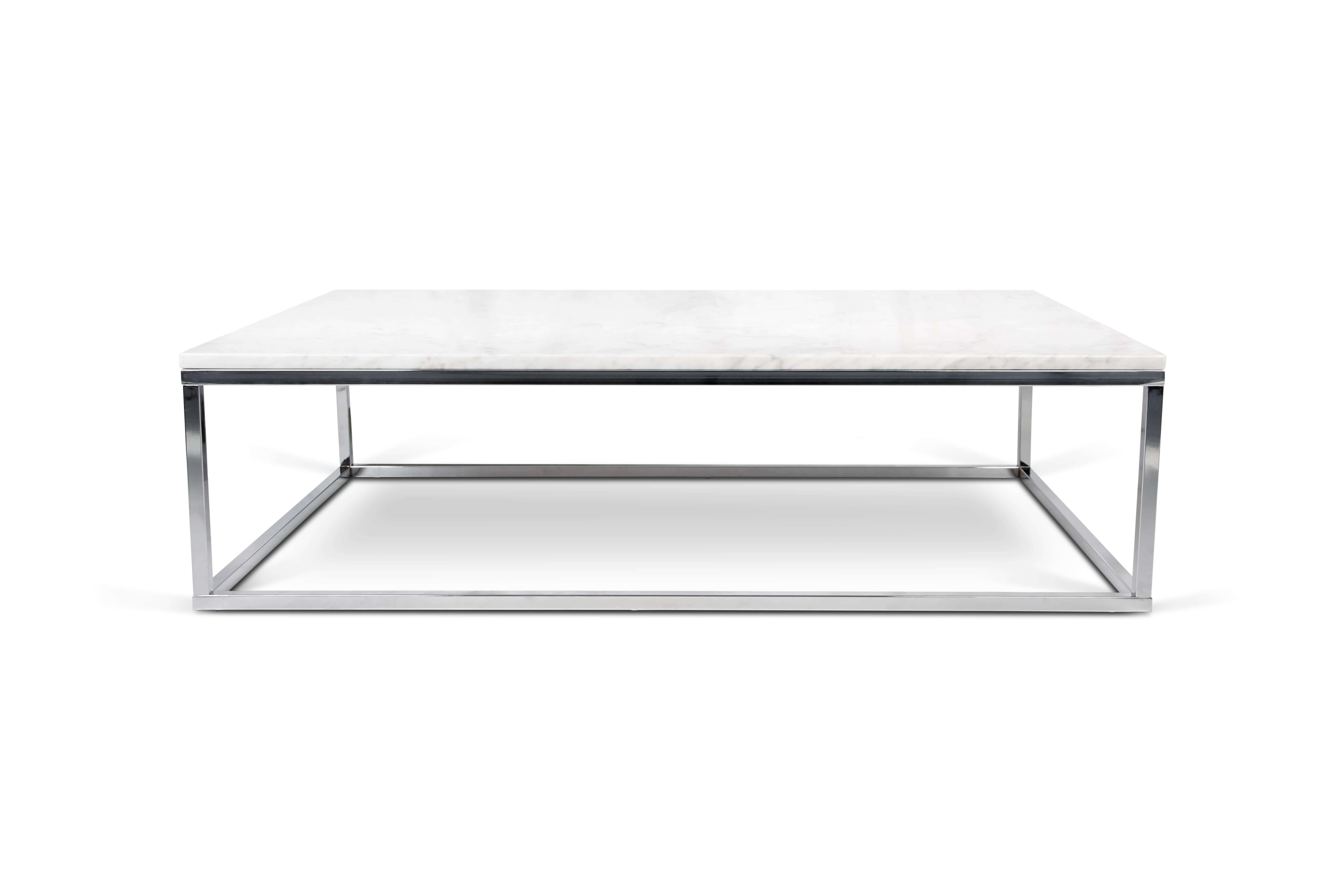 Popular Wood Chrome Coffee Tables Regarding Coffee Tables : Black Marble Coffee Table Set Material Glass Shape (View 18 of 20)
