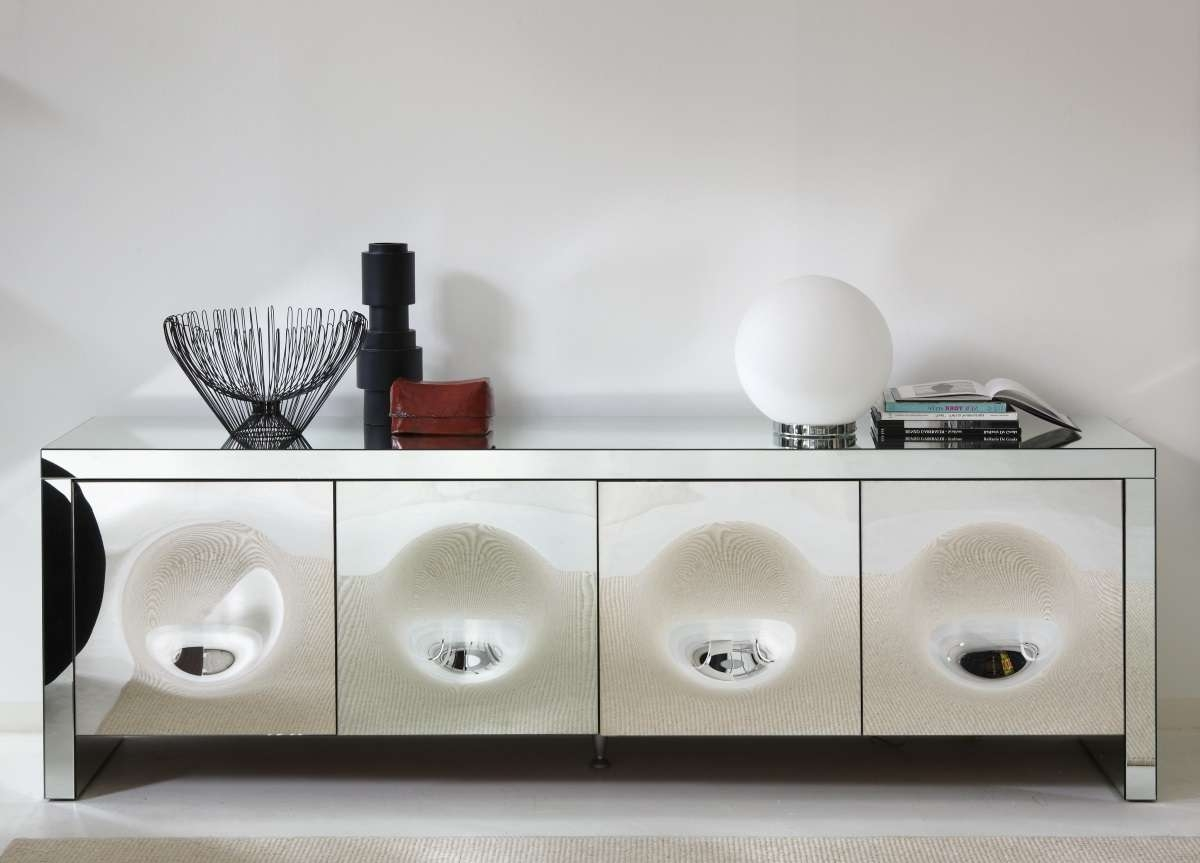 Porada Empire Mirrored Sideboard – Porada Furniture At Go Modern For Mirror Sideboards (View 14 of 20)