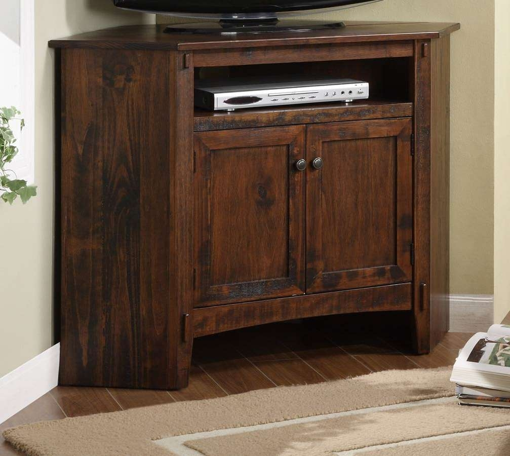 Powell Rustic Corner Tv Stand Pw 634 954 At Homelement Regarding Rustic Corner Tv Cabinets (View 4 of 20)