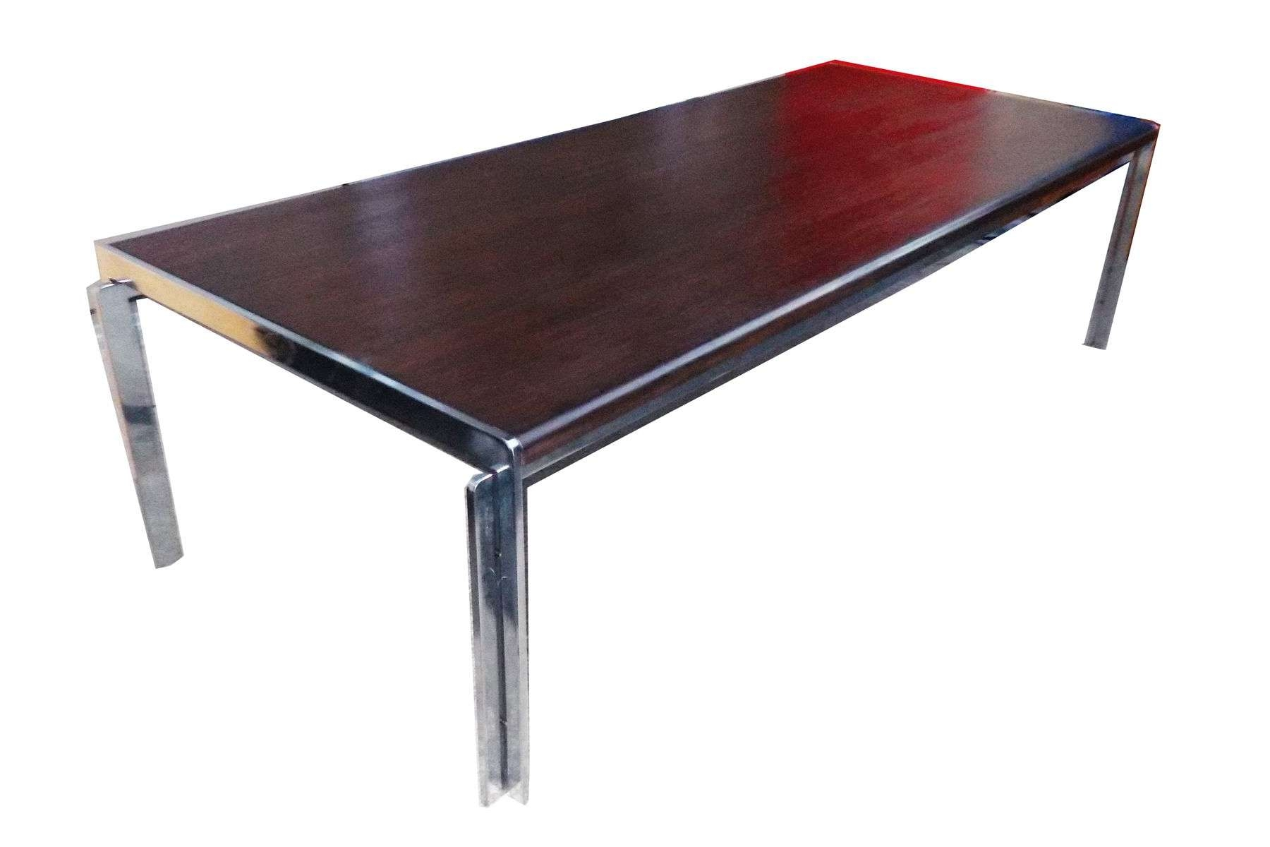 Preferred Chrome And Wood Coffee Tables Inside Chrome And Wood Coffee Table Furniture (View 15 of 20)