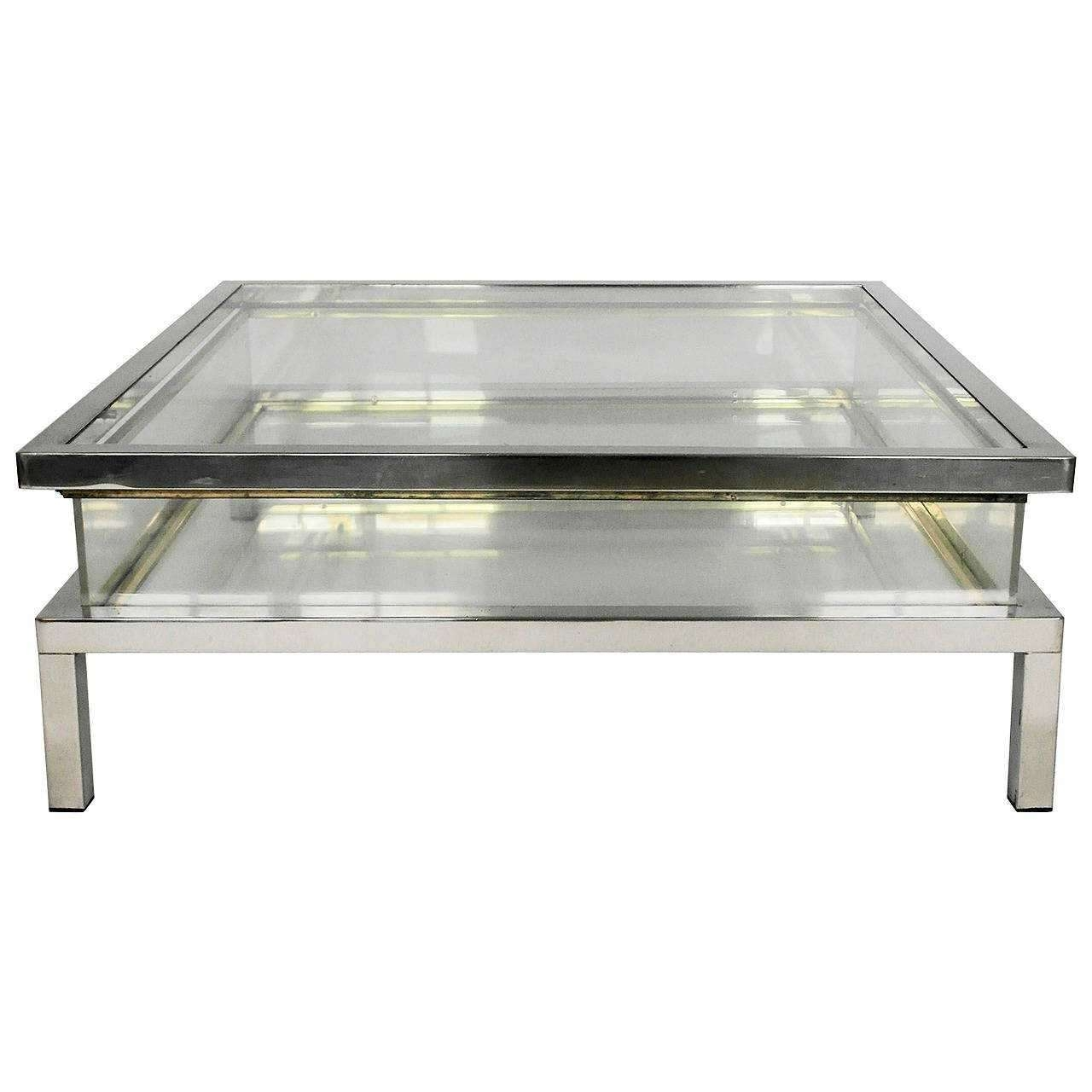 Preferred Chrome Coffee Tables Pertaining To Chrome Coffee Table (View 8 of 20)