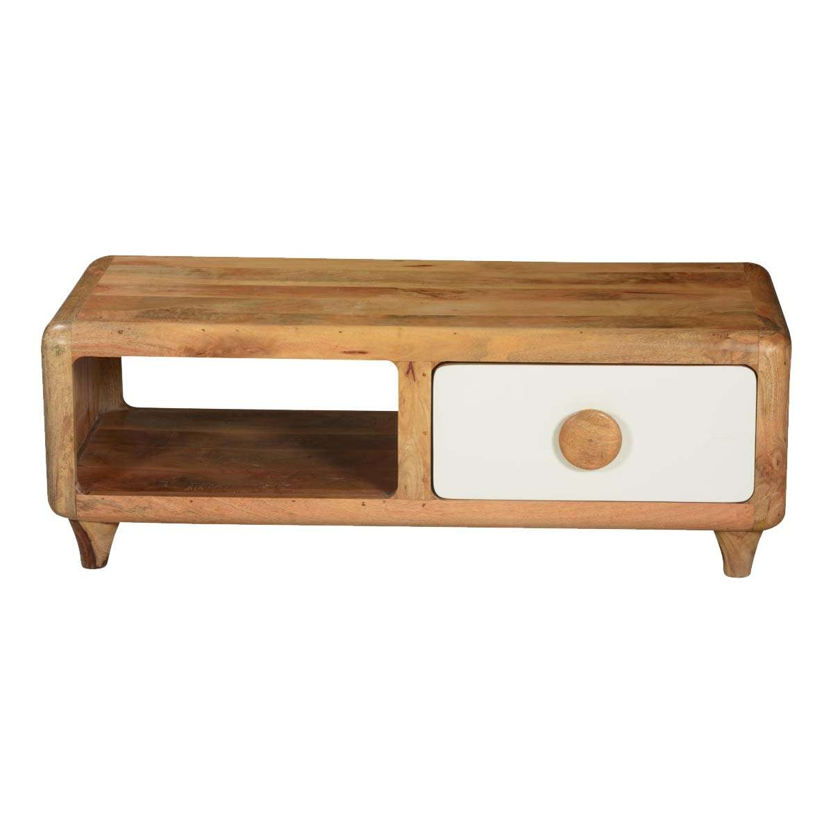Preferred Coffee Table Rounded Corners In Natural Mango Wood Tv Console A Cabinet