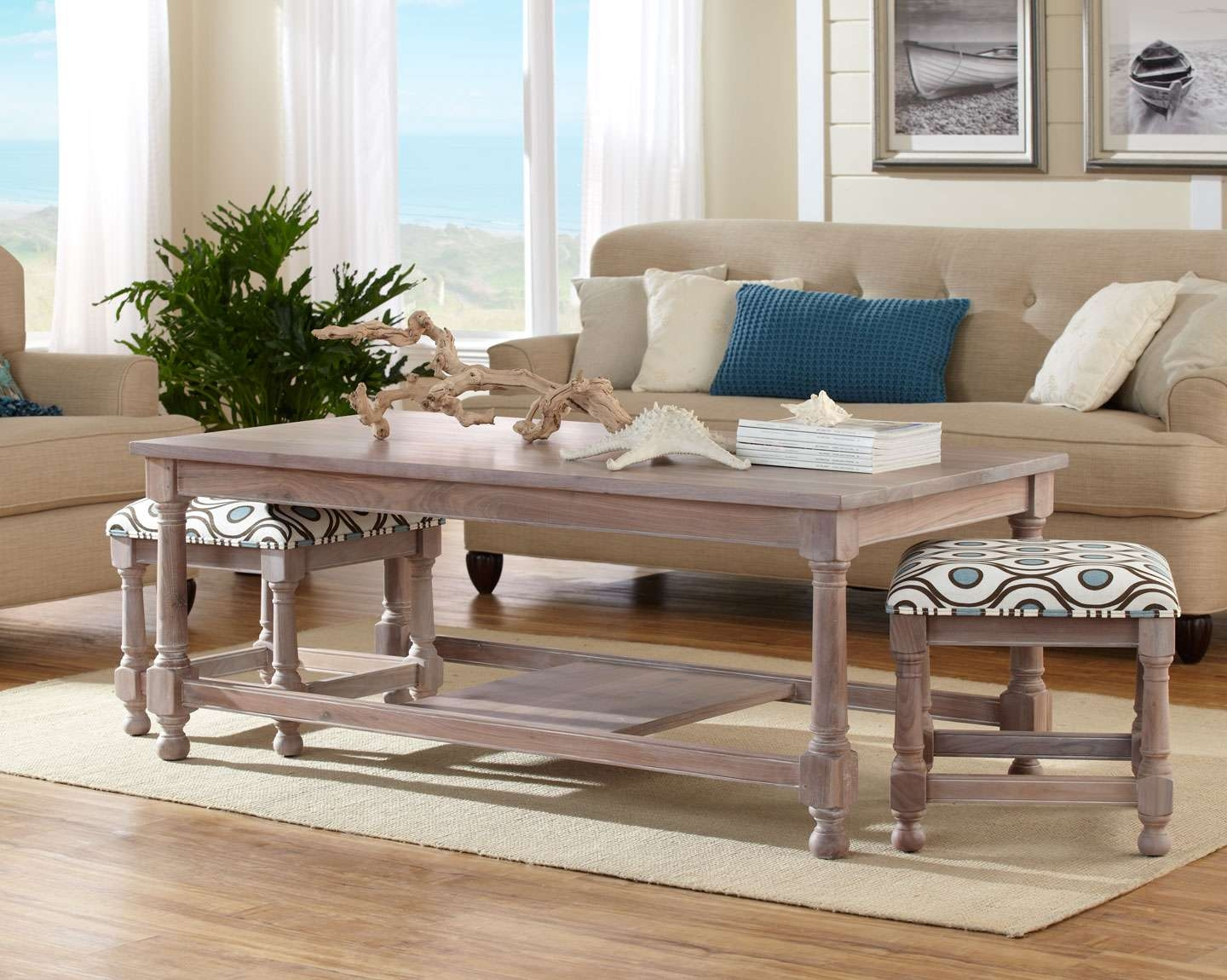 Preferred Coffee Tables With Nesting Stools With Stool Coffee Table – Home Design Ideas And Pictures (View 4 of 20)