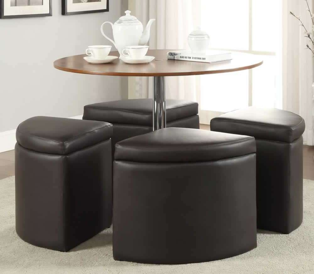 Preferred Coffee Tables With Seating And Storage For Coffee Table Round Coffee Table With Stools Underneath Leather (View 16 of 20)