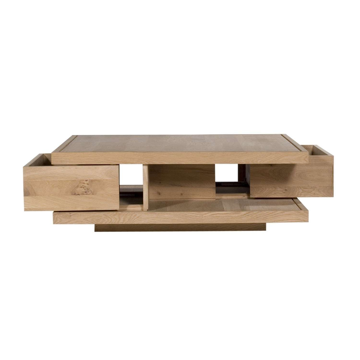 Preferred Contemporary Oak Coffee Table Pertaining To Ethnicraft Flat Oak Coffee Tables (View 9 of 20)