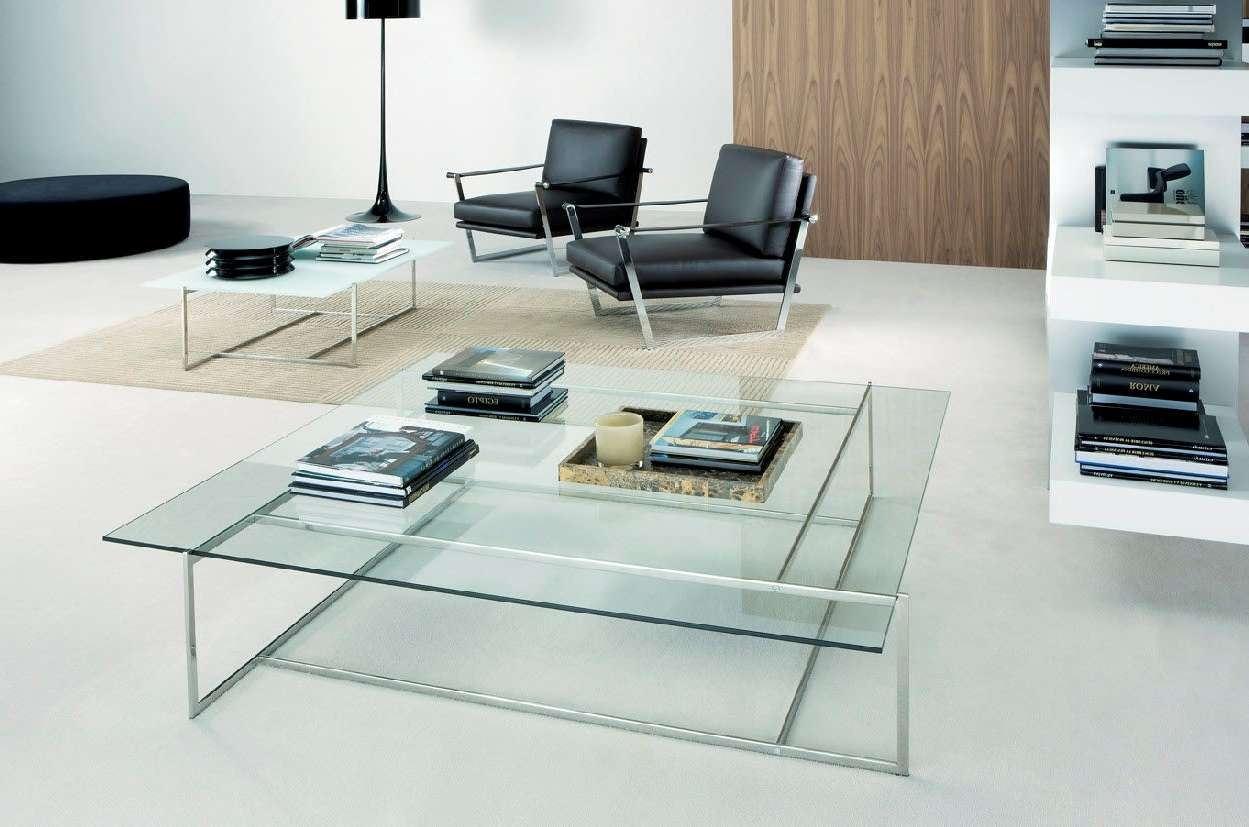 Preferred Extra Large Low Coffee Tables With Regard To Clear Low Extra Large Square Modern Glass Coffee Tables Designs (View 14 of 20)